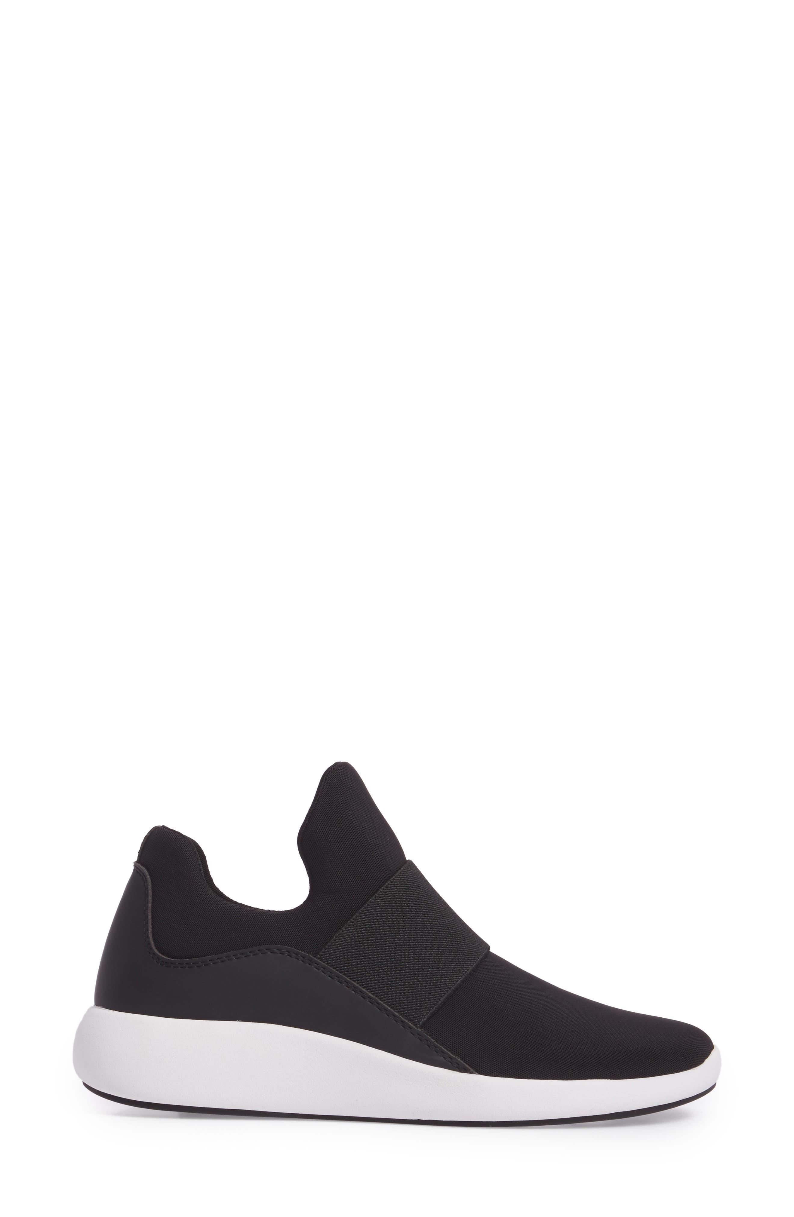 Donna Karan Cory Slip-On Sneaker,                             Alternate thumbnail 3, color,                             001