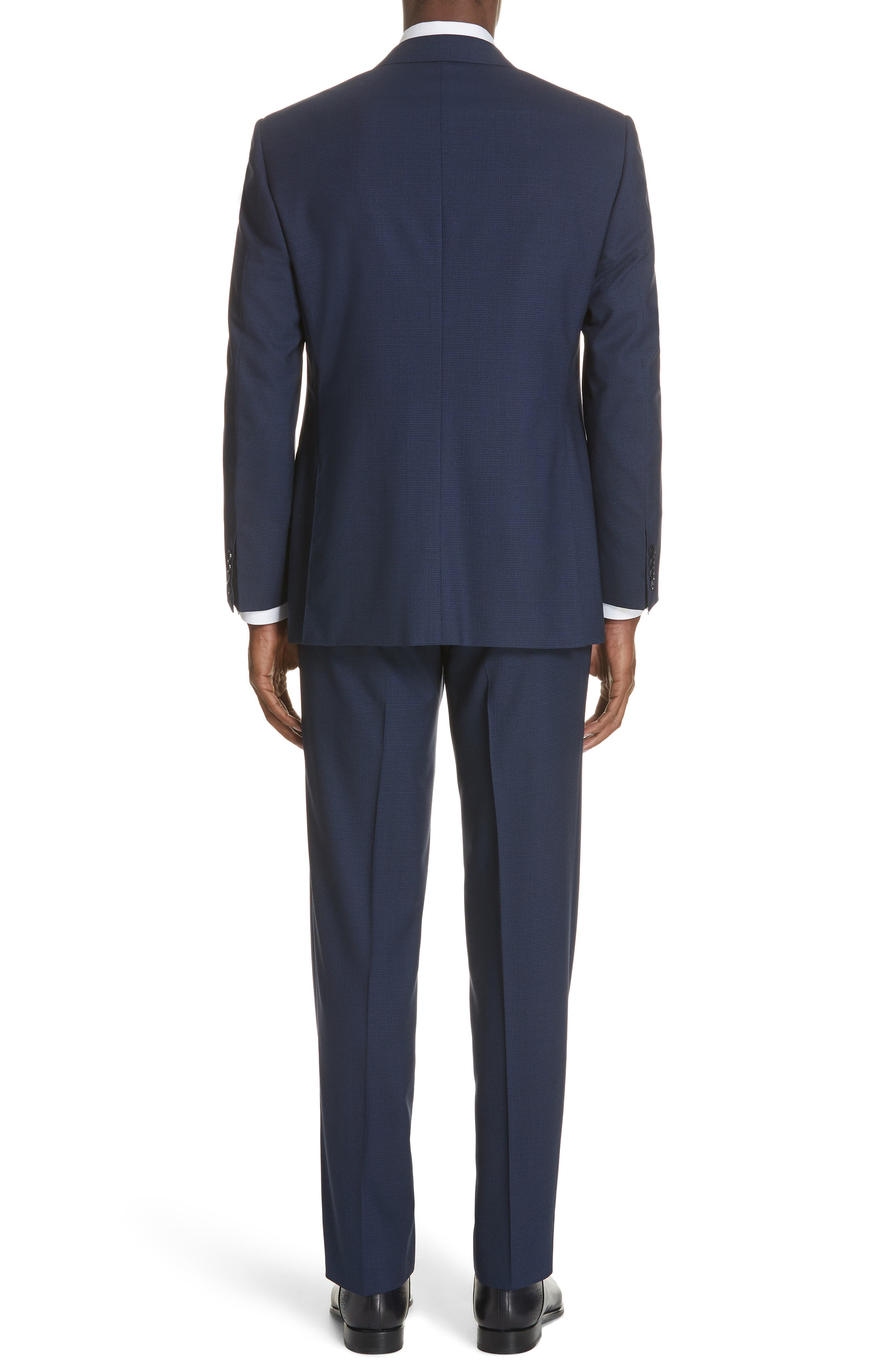 CANALI,                             Classic Fit Check Wool Suit,                             Alternate thumbnail 2, color,                             400