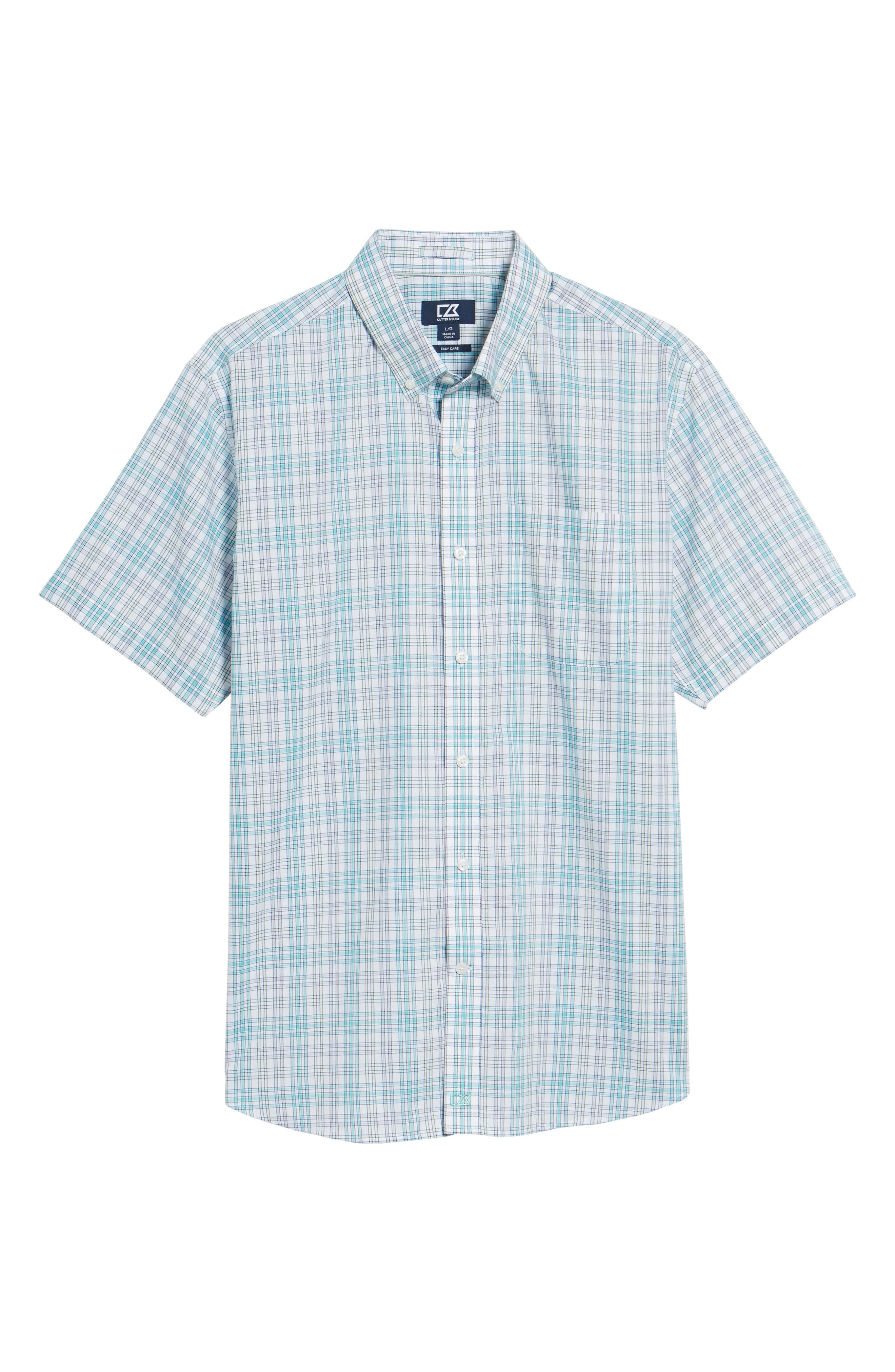 Isaac Plaid Easy Care Woven Shirt,                             Alternate thumbnail 6, color,                             328
