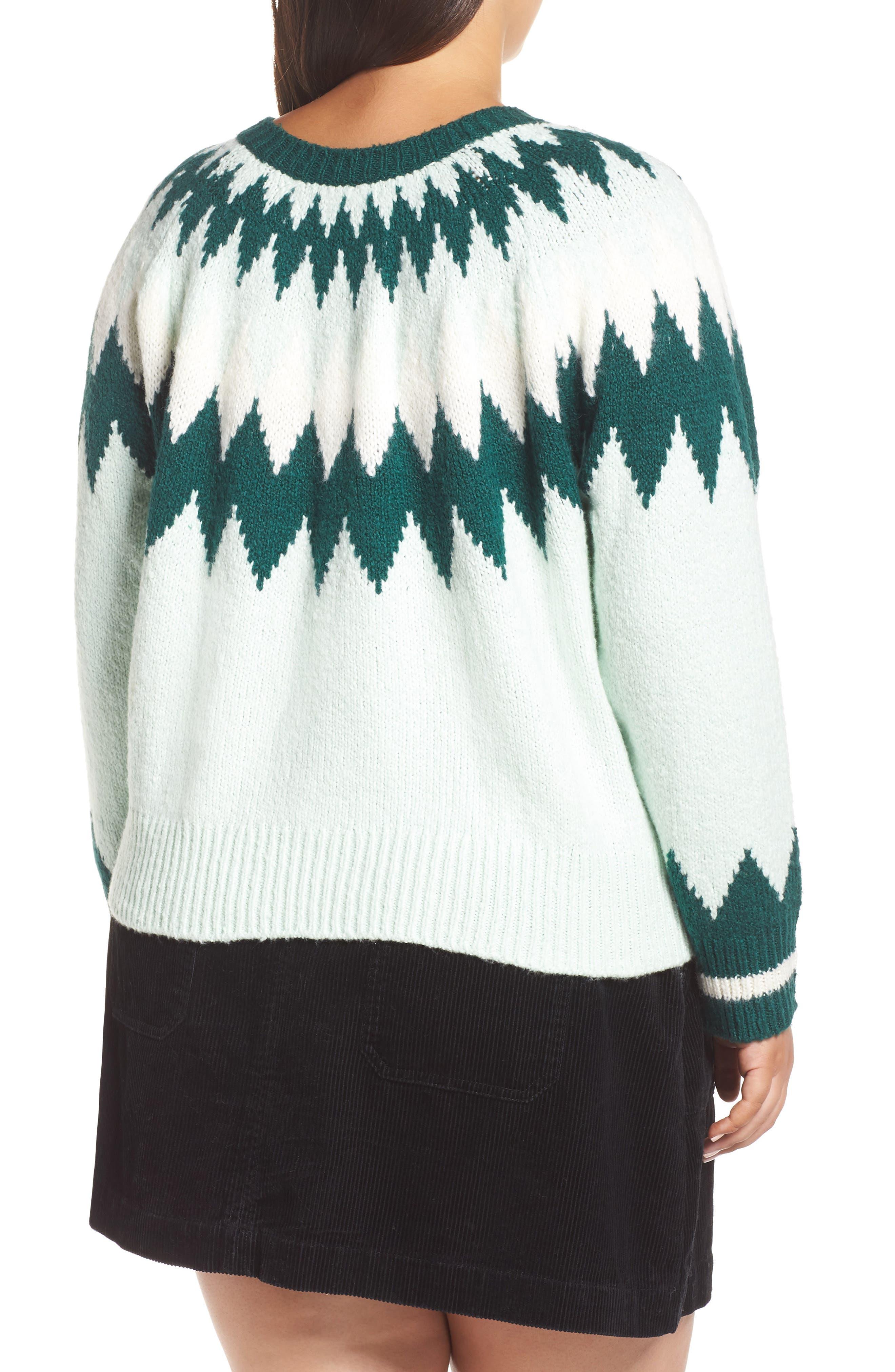 Cozy Ski Sweater,                             Alternate thumbnail 2, color,                             GREEN PLACID FAIRISLE