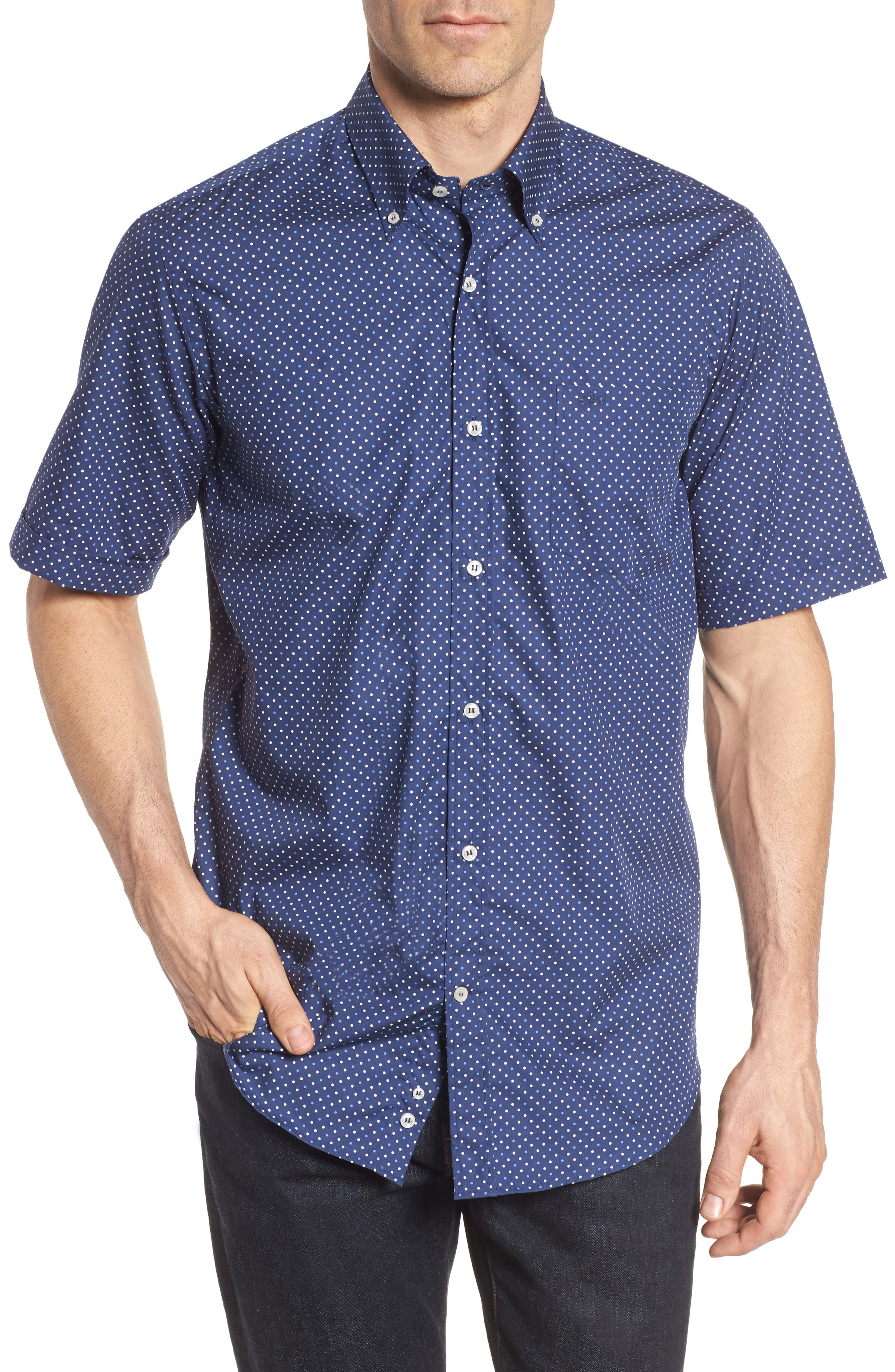 Paul&Shark Dot Sport Shirt,                         Main,                         color, 407