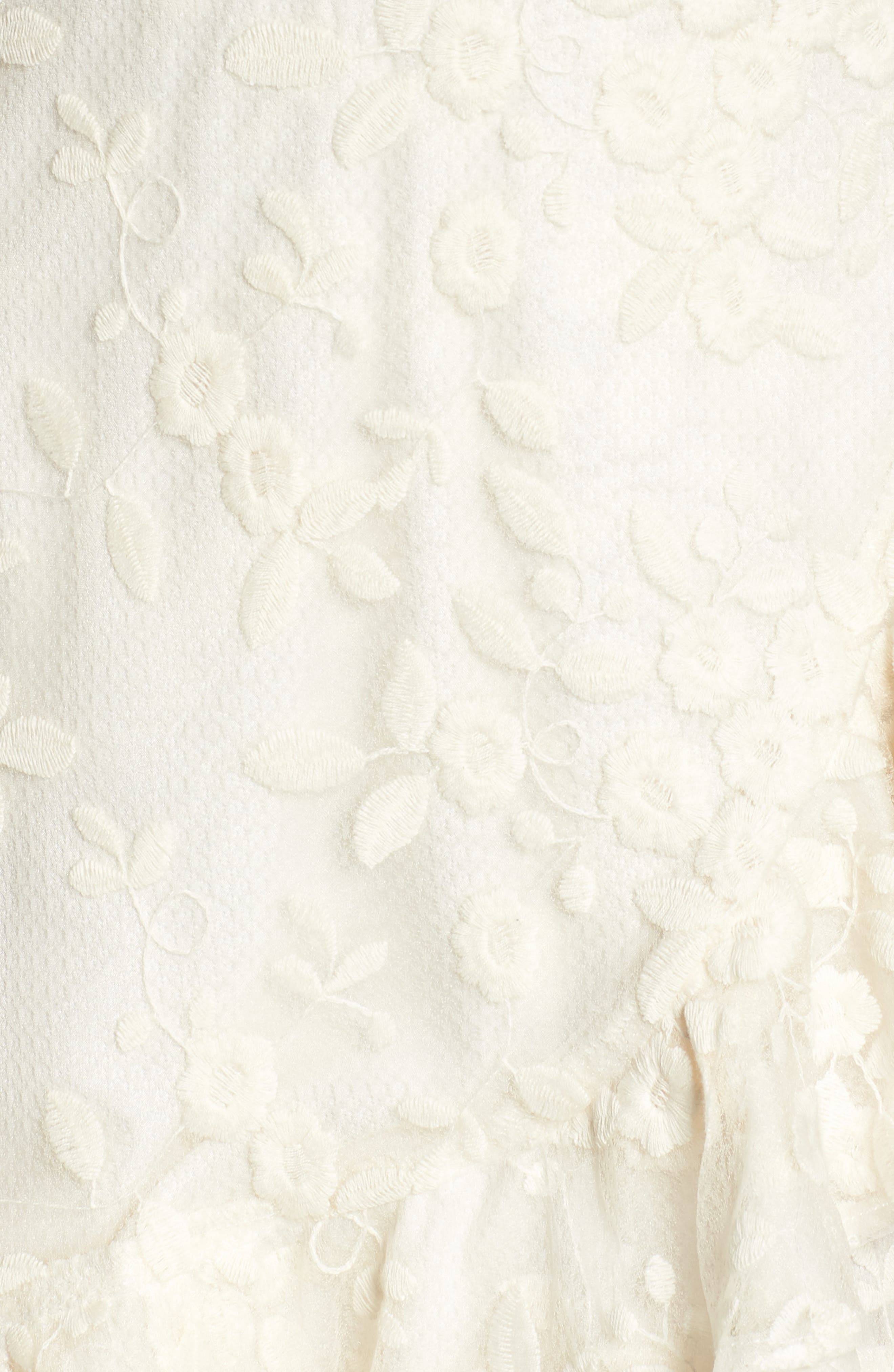 Harlow Ruffle Minidress,                             Alternate thumbnail 6, color,                             ANTIQUE IVORY