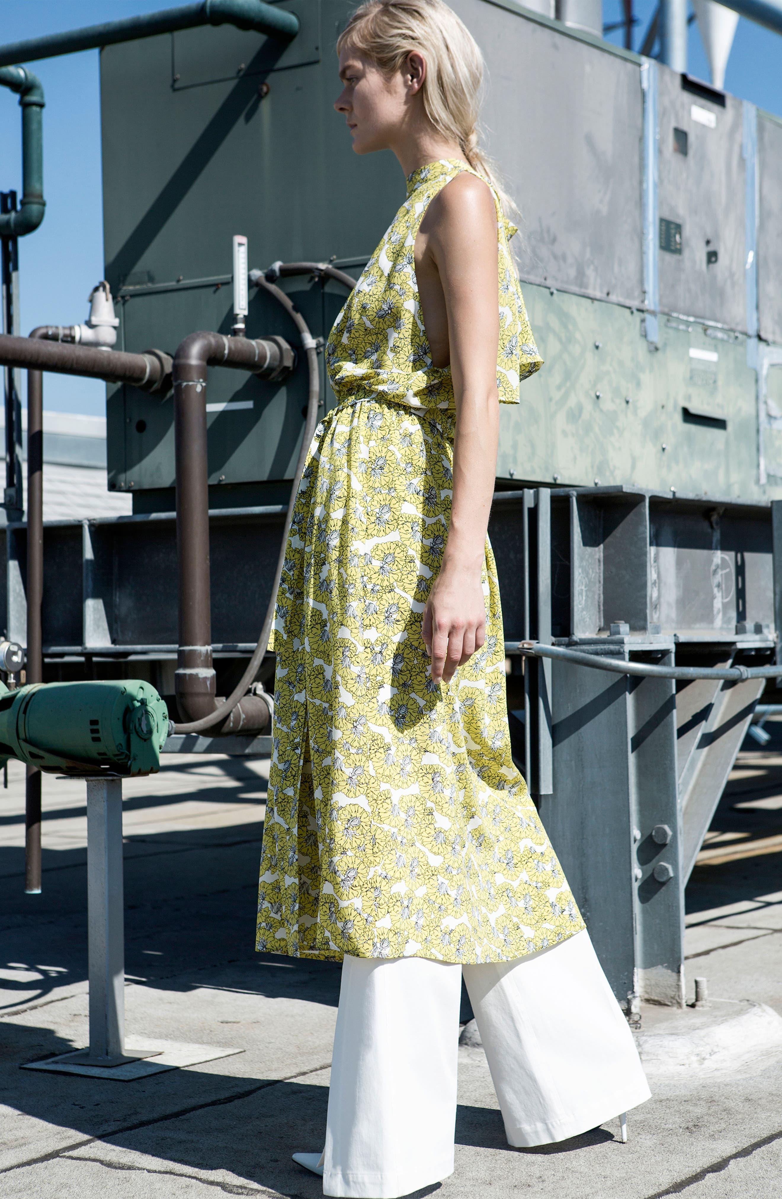 Dania Floral Print Dress,                             Alternate thumbnail 7, color,                             730