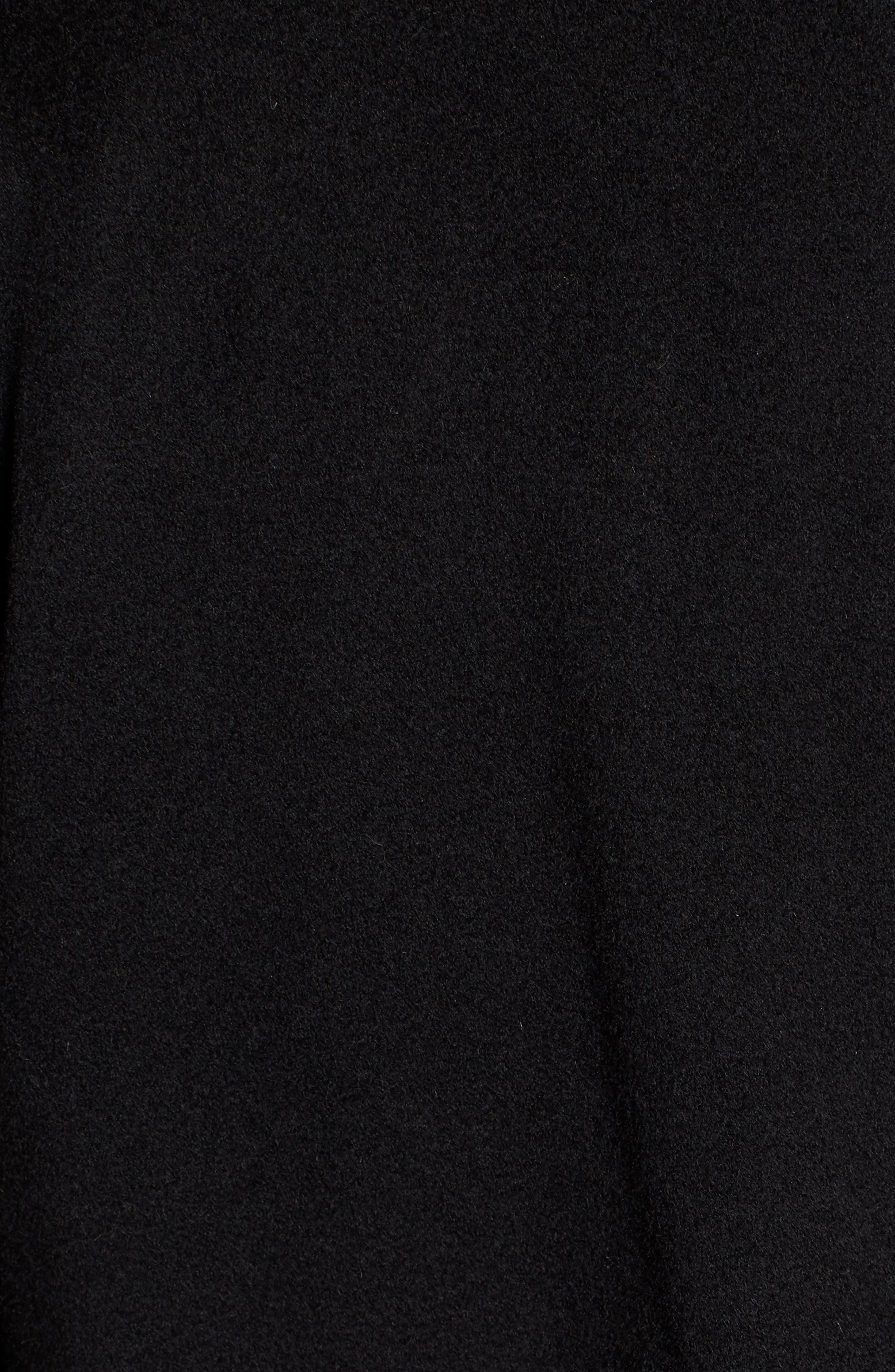 FLEURETTE,                             Loro Piana Wool Car Coat with Genuine Rex Rabbit Fur Trim,                             Alternate thumbnail 7, color,                             001