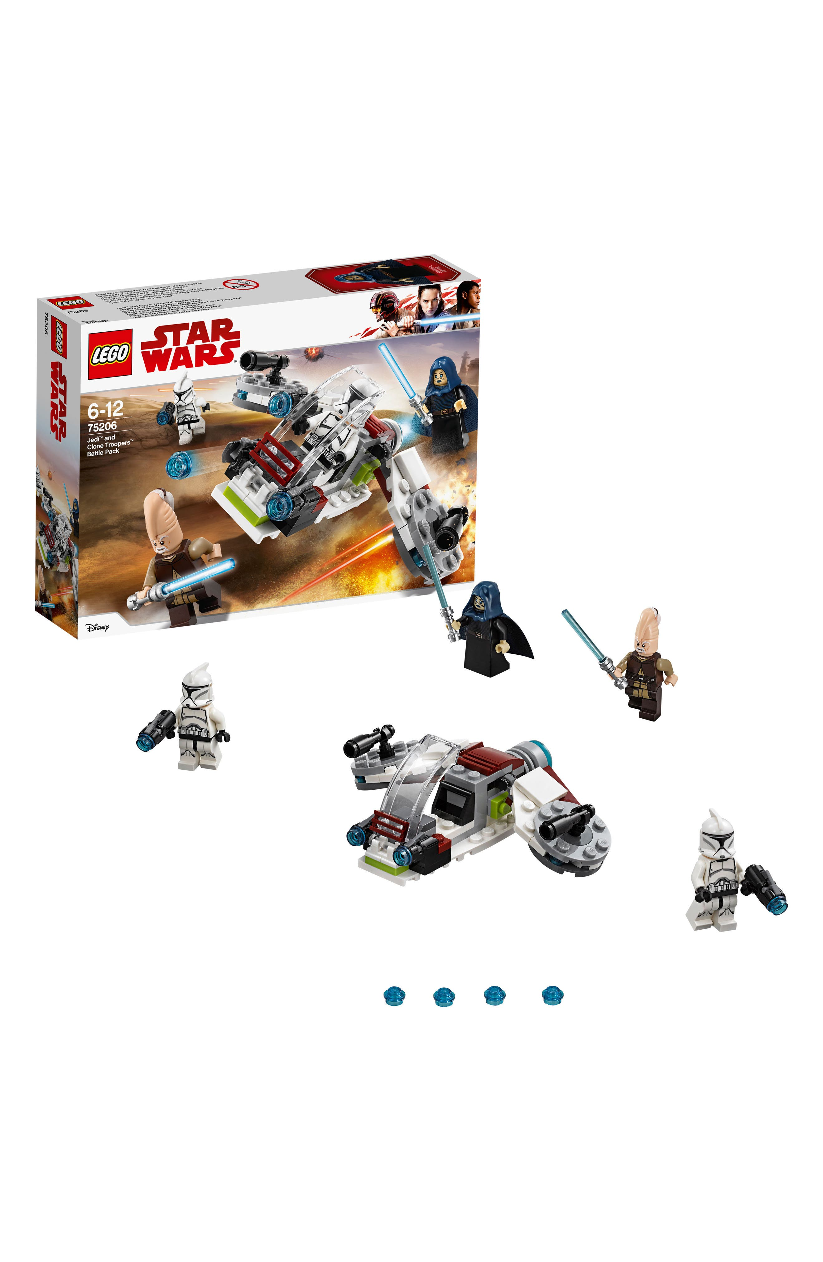 Jedi<sup>™</sup> and Clone Troopers<sup>™</sup> Battle Pack - 75206,                             Alternate thumbnail 6, color,                             100