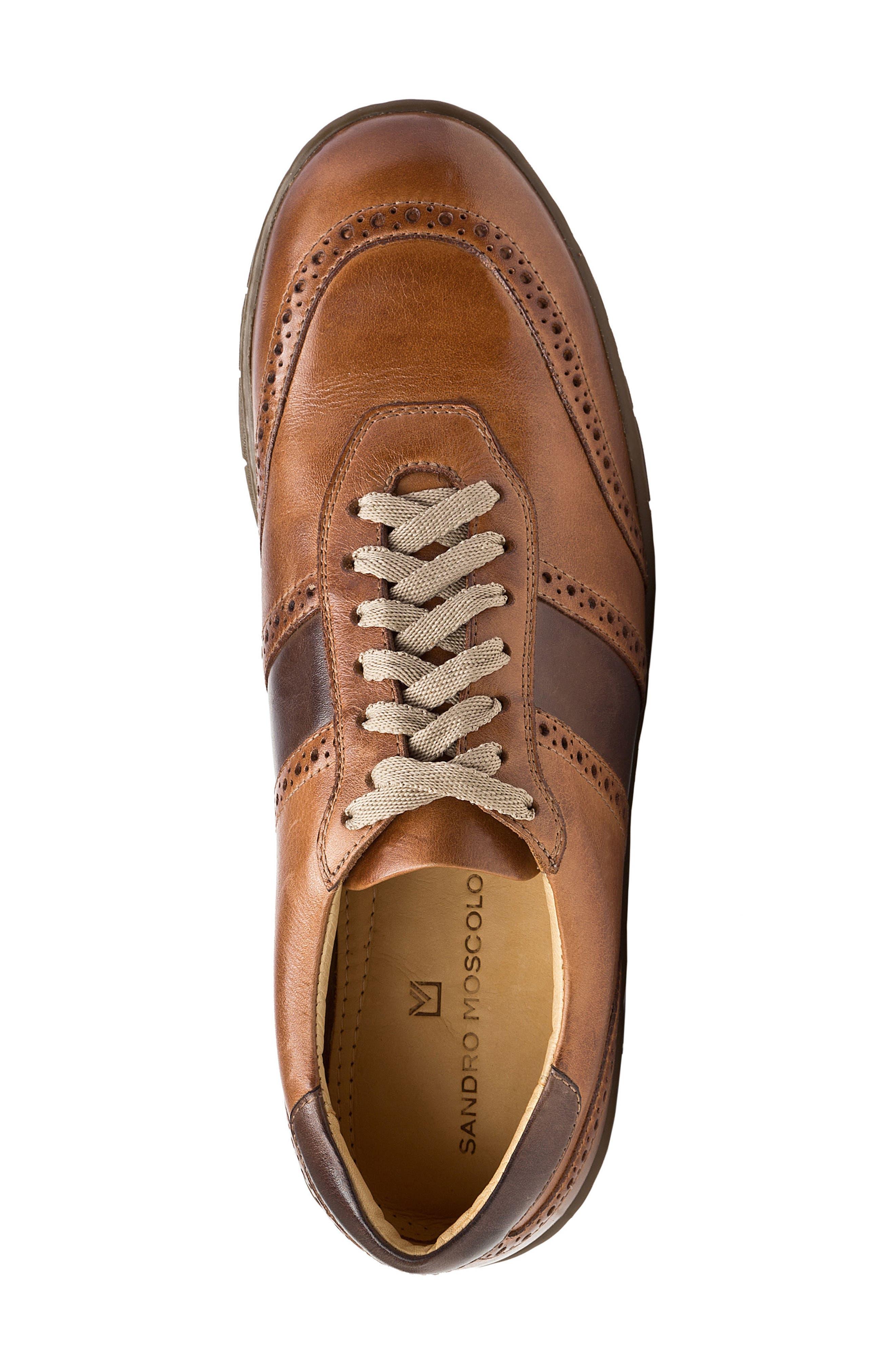 Norris Sneaker,                             Alternate thumbnail 5, color,                             TAN LEATHER