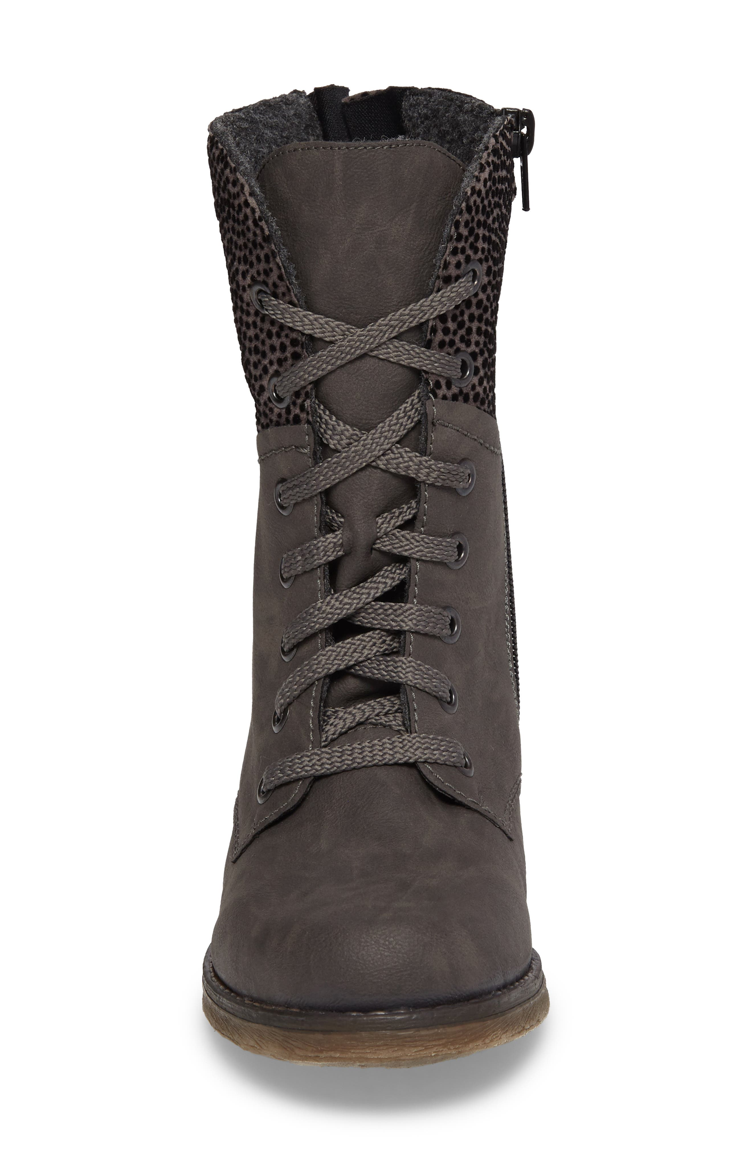 'Fee 04' Lace-Up Boot,                             Alternate thumbnail 4, color,                             FUMO FAUX LEATHER