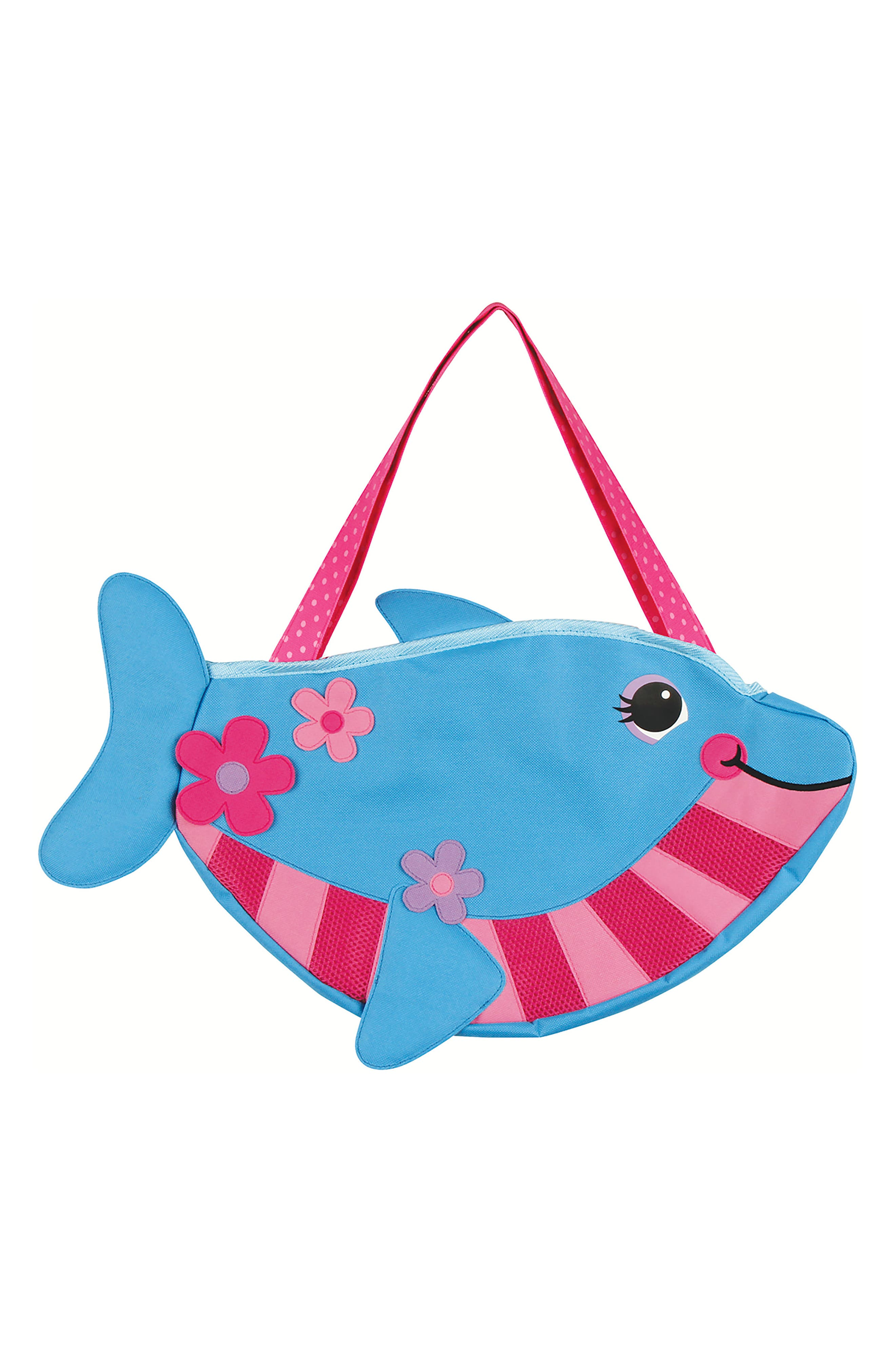 Beach Tote, Hooded Towel & Toys,                             Alternate thumbnail 6, color,                             BLUE DOLPHIN