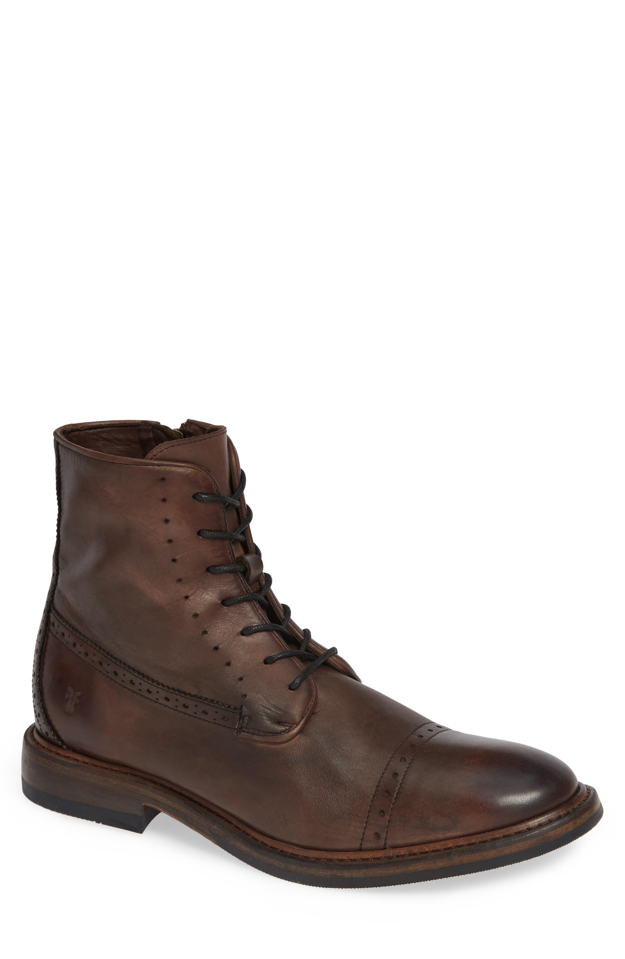 Murray Cap Toe Boot,                             Main thumbnail 1, color,                             BROWN