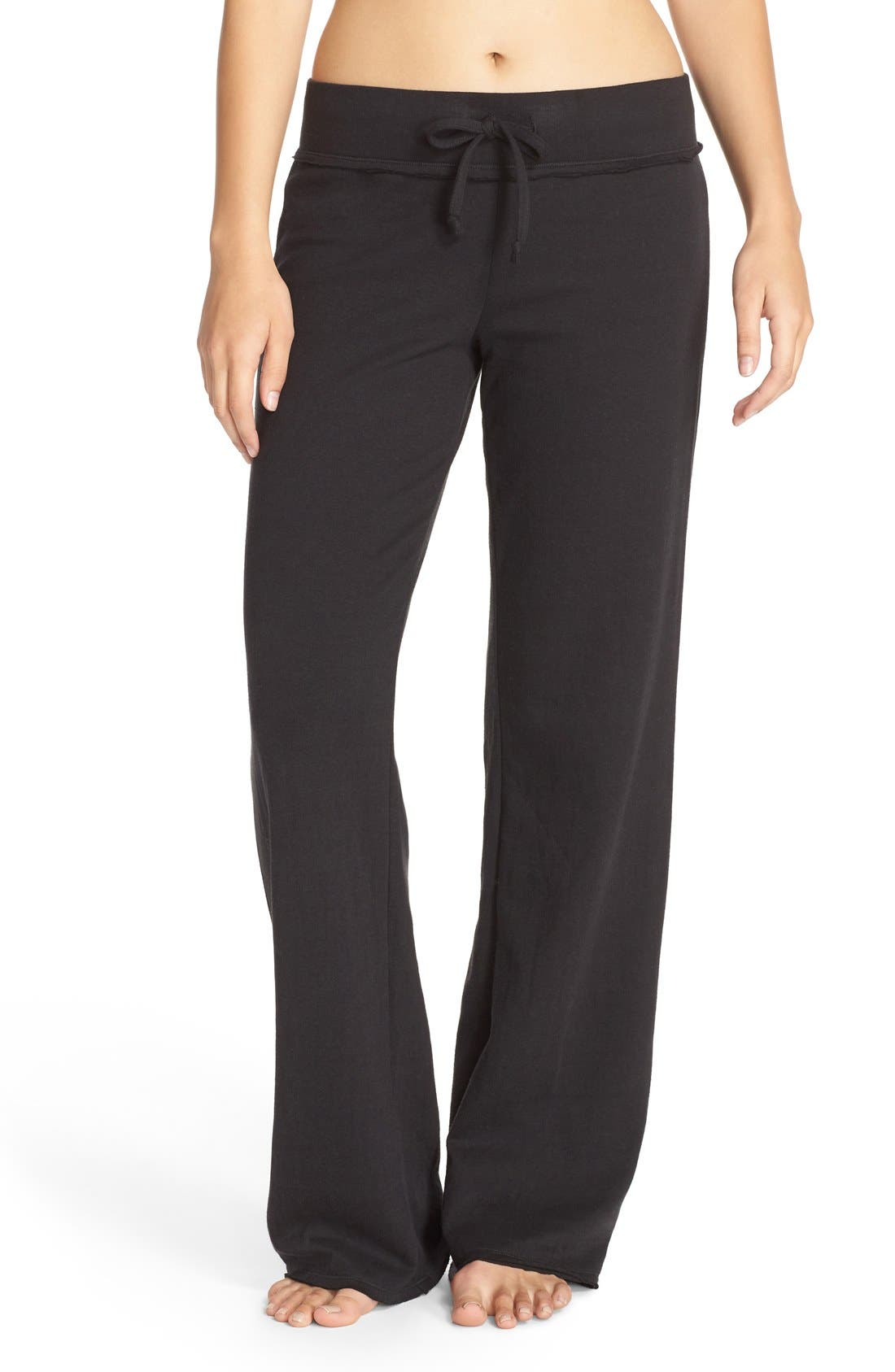 'Lazy Mornings' Lounge Pants,                         Main,                         color, BLACK