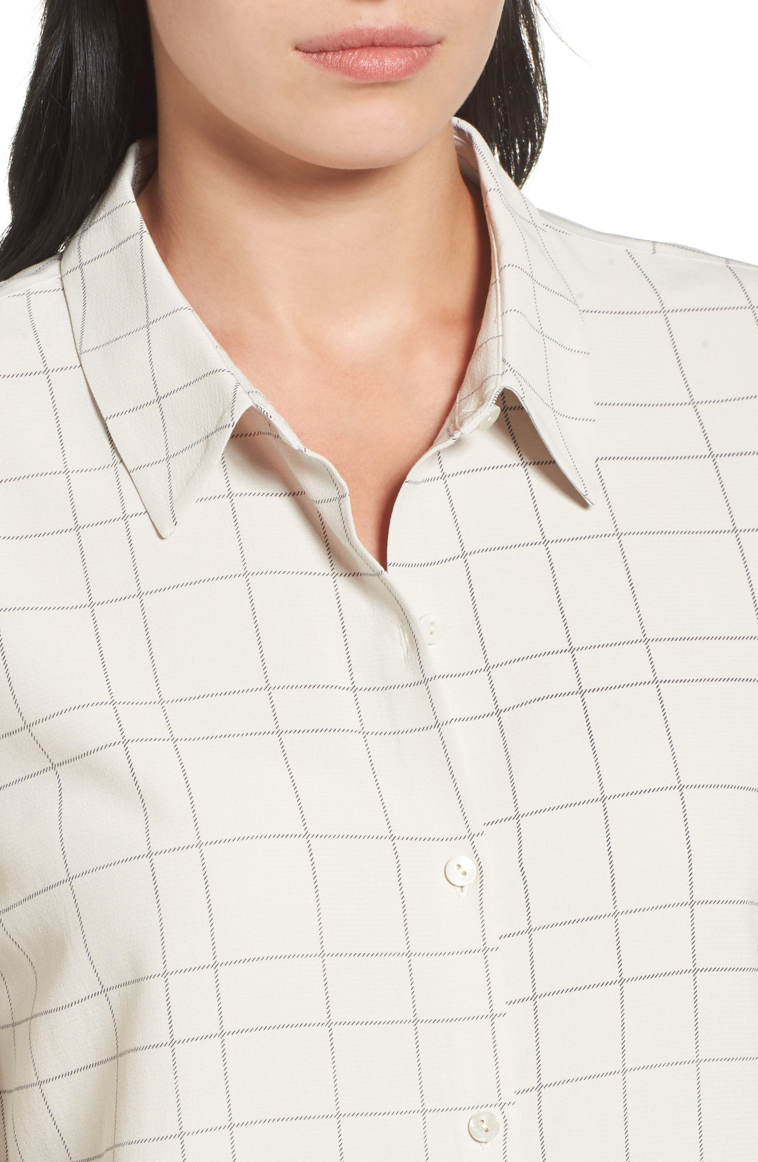 Windowpane Classic Collar Shirt,                             Alternate thumbnail 8, color,