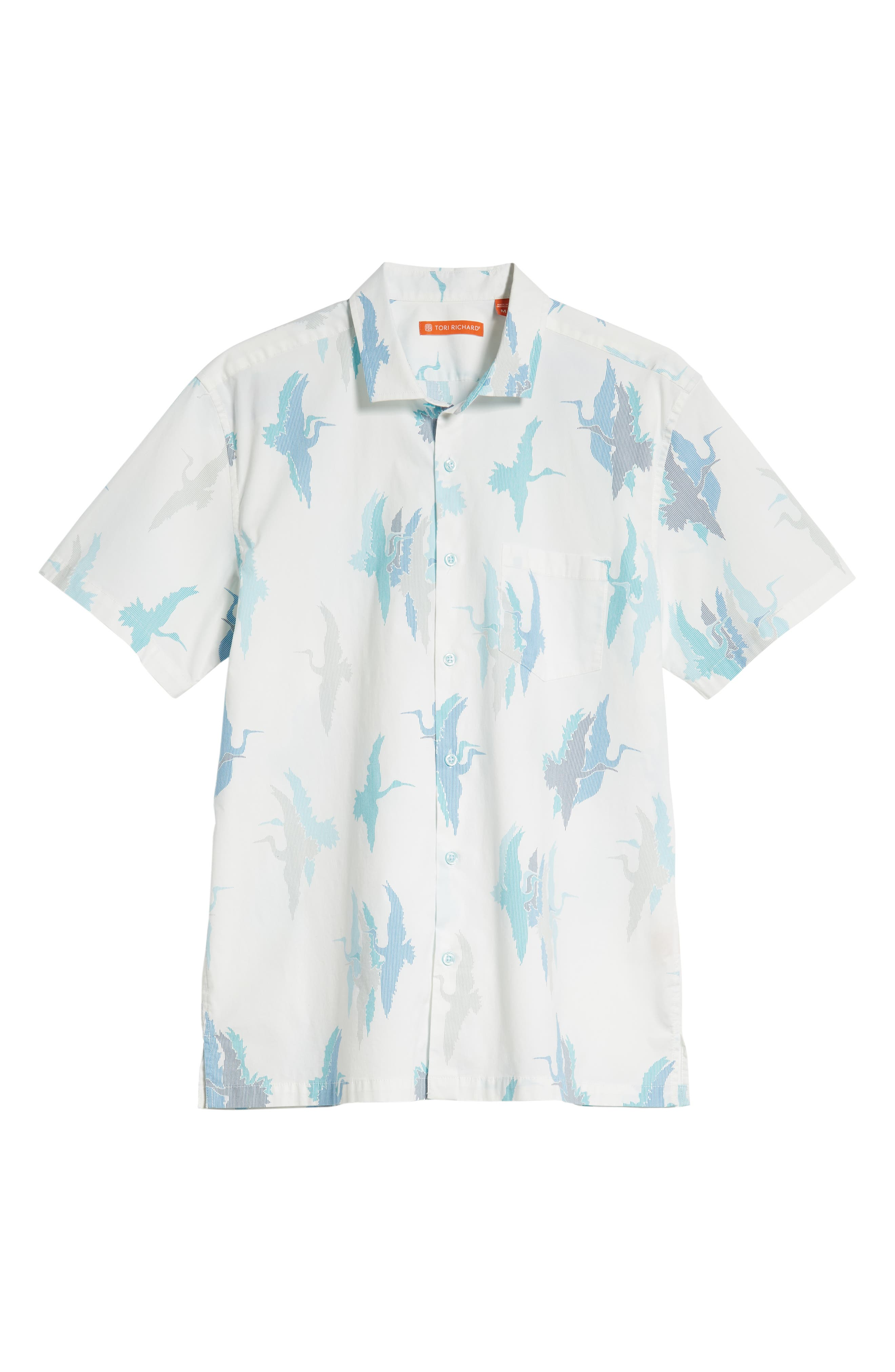 Shadow Crane Regular Fit Sport Shirt,                             Alternate thumbnail 5, color,                             100