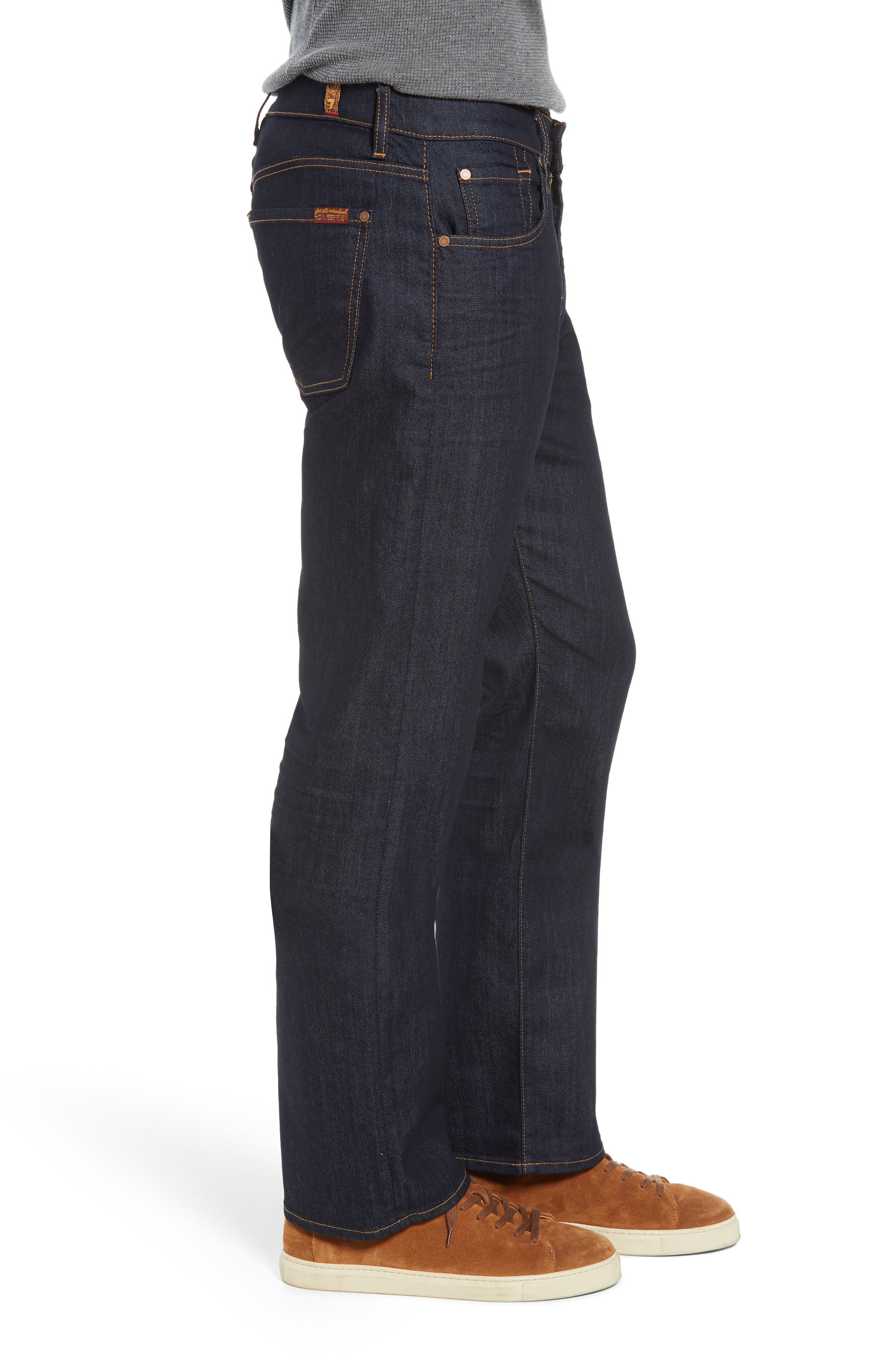 Austyn Airweft Relaxed Straight Leg Jeans,                             Alternate thumbnail 3, color,                             CAVEAT