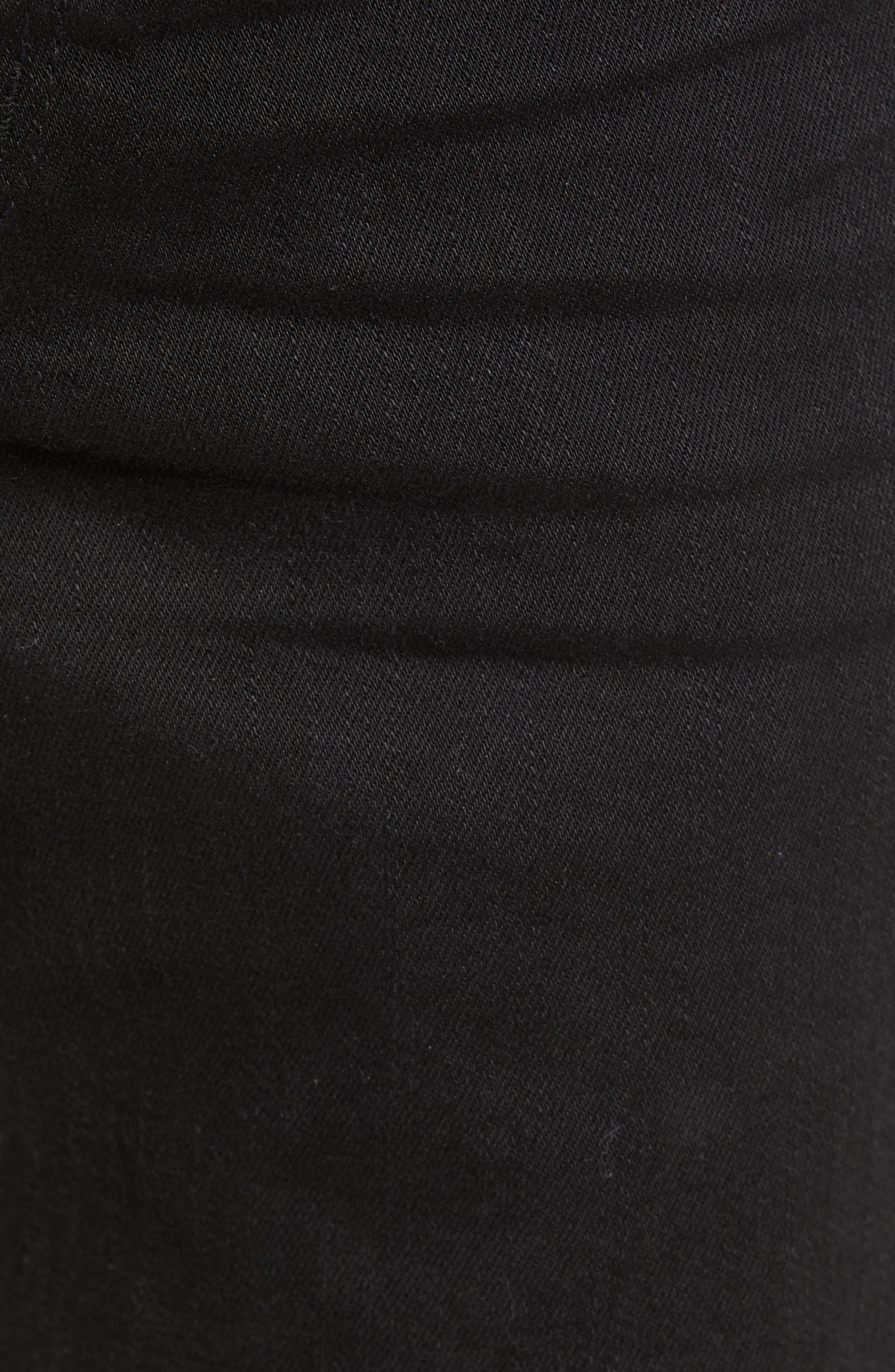 Ripped Skinny Jeans,                             Alternate thumbnail 5, color,                             BLACK STONE WASH