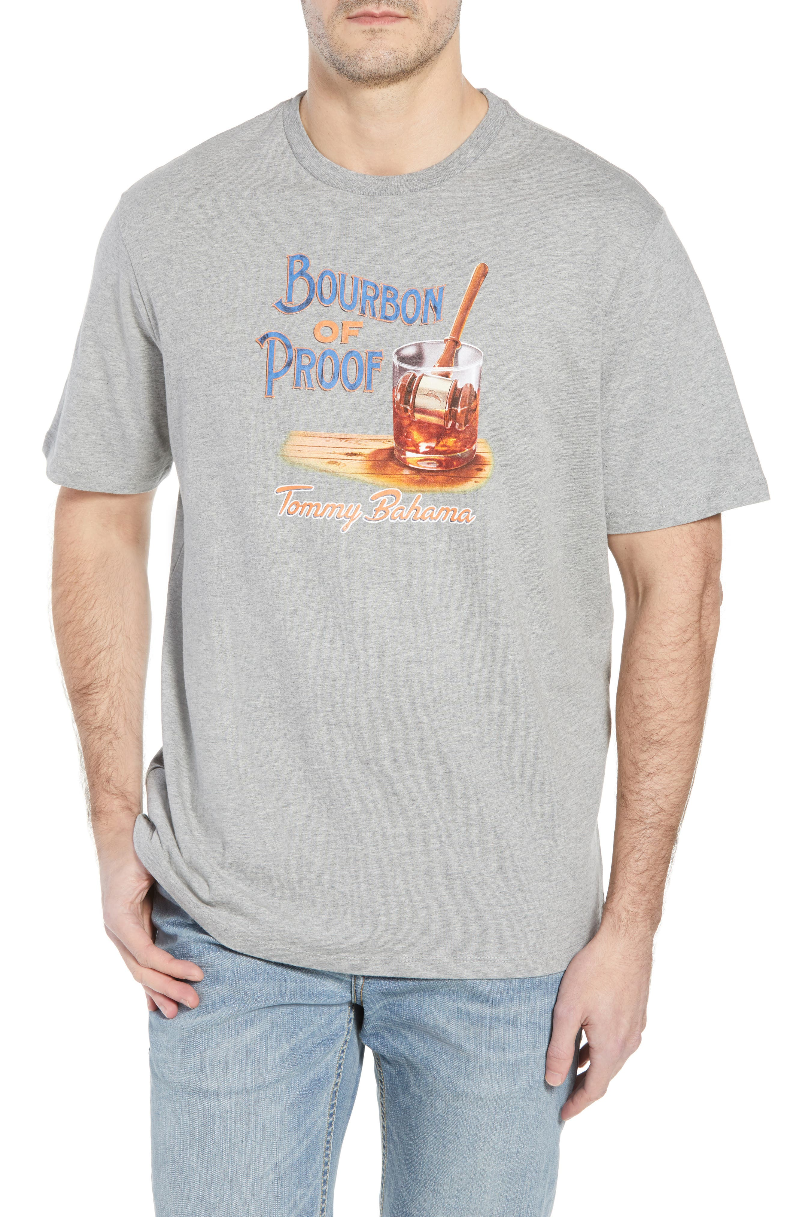 Bourbon of Proof Graphic T-Shirt,                             Main thumbnail 1, color,                             GREY HEATHER