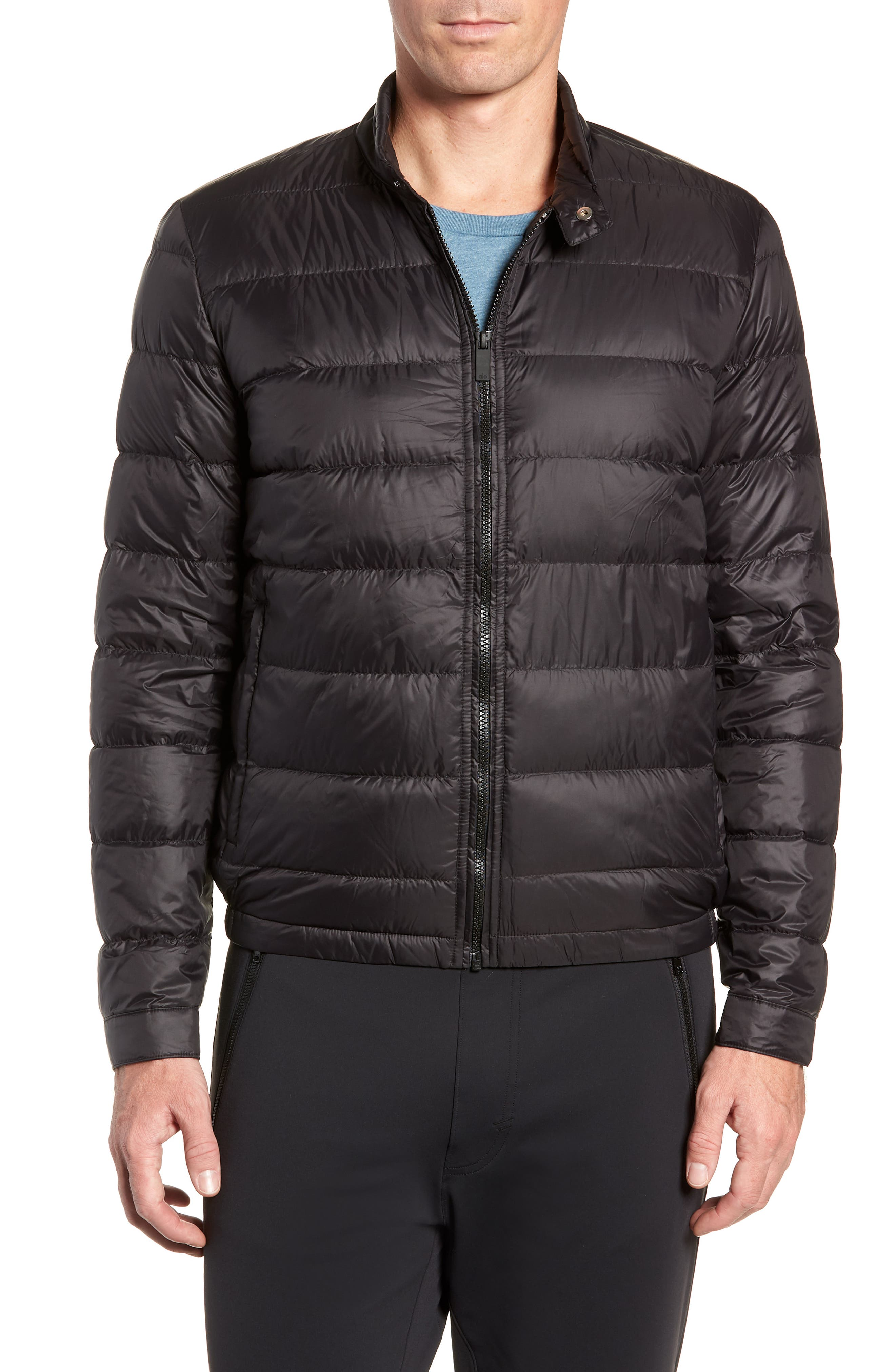 Puffer Jacket,                             Alternate thumbnail 4, color,                             BLACK