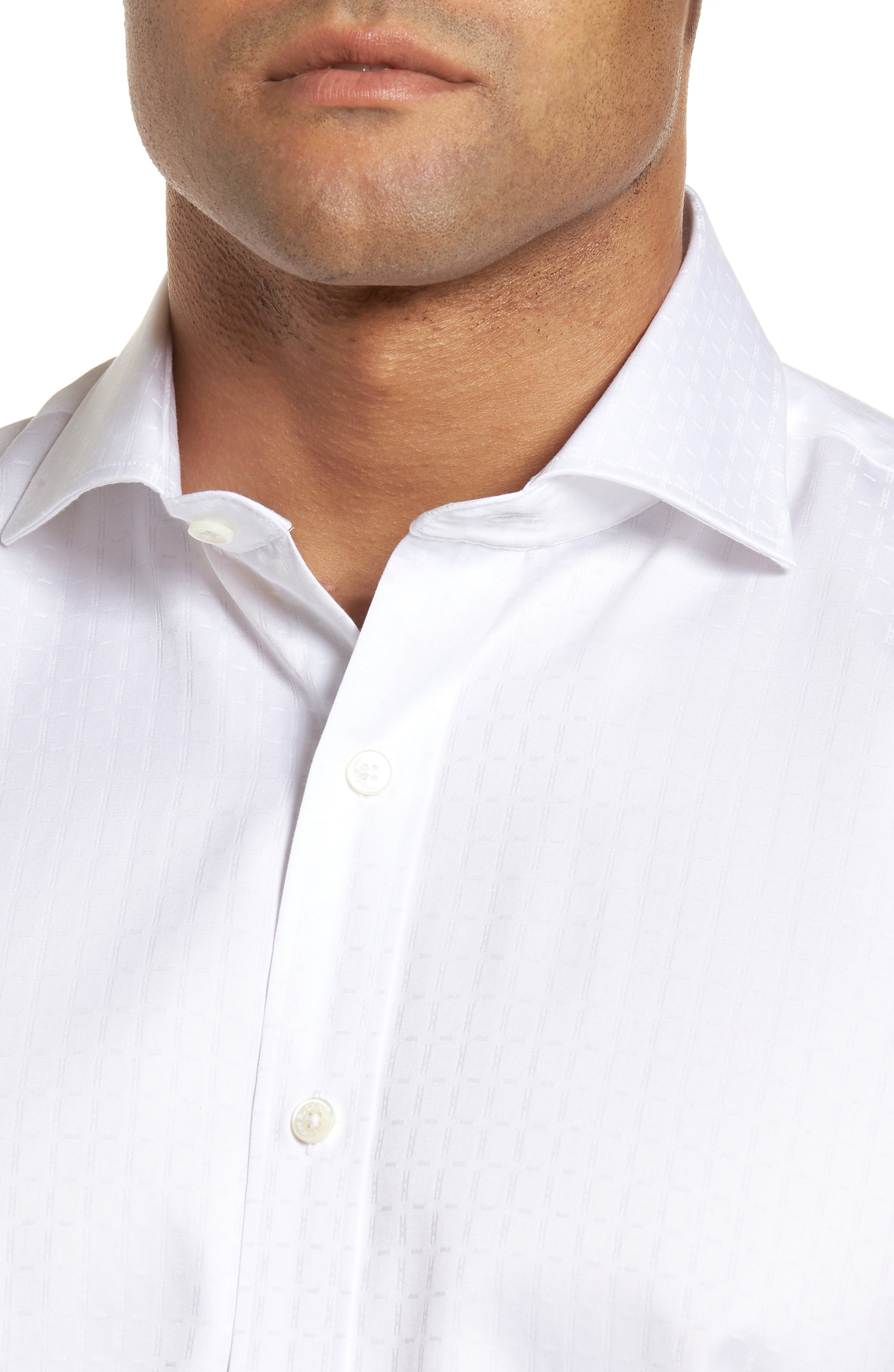 Classic Fit Woven Sport Shirt,                             Alternate thumbnail 4, color,                             WHITE