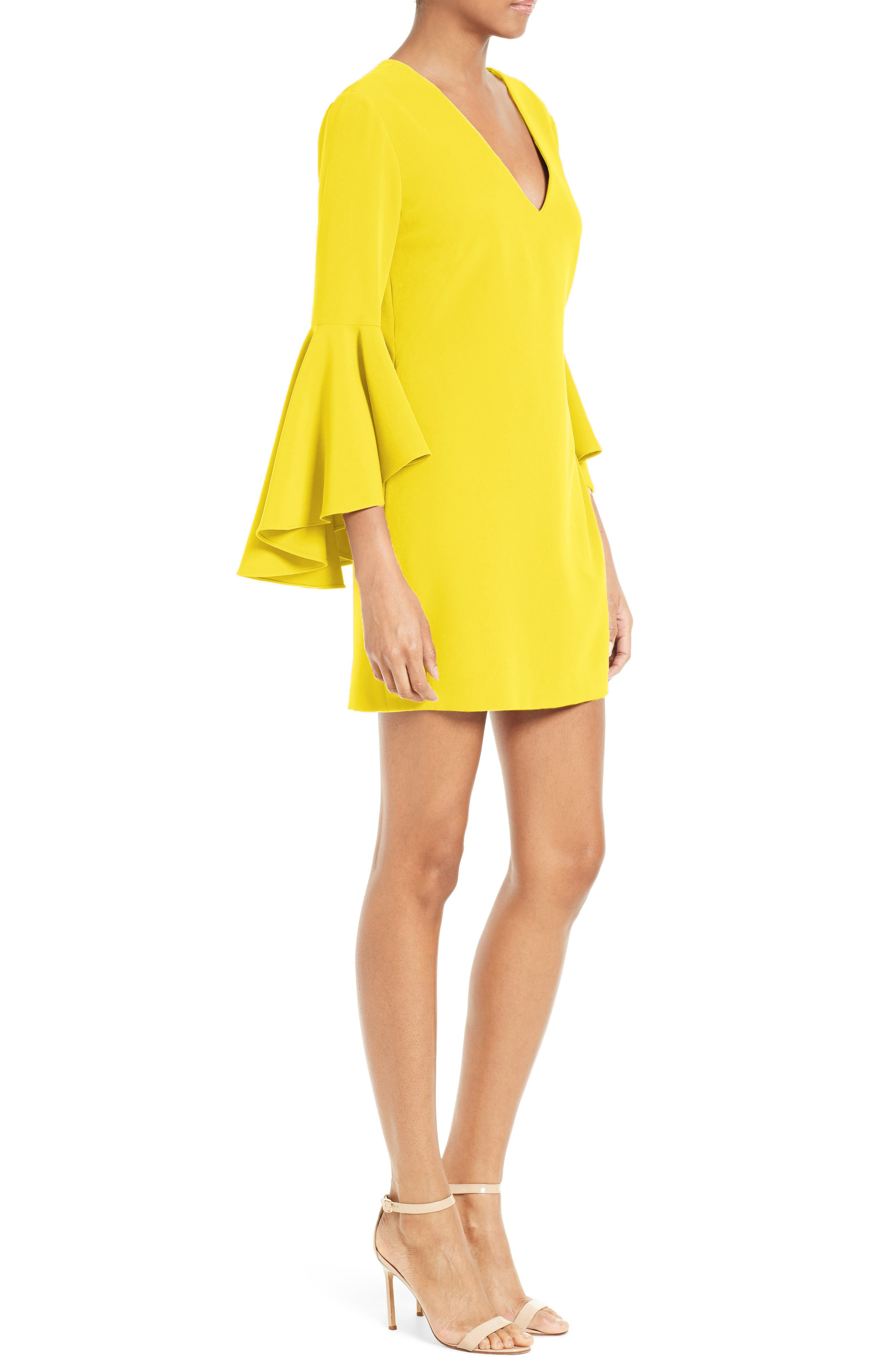 Nicole Bell Sleeve Dress,                             Alternate thumbnail 44, color,
