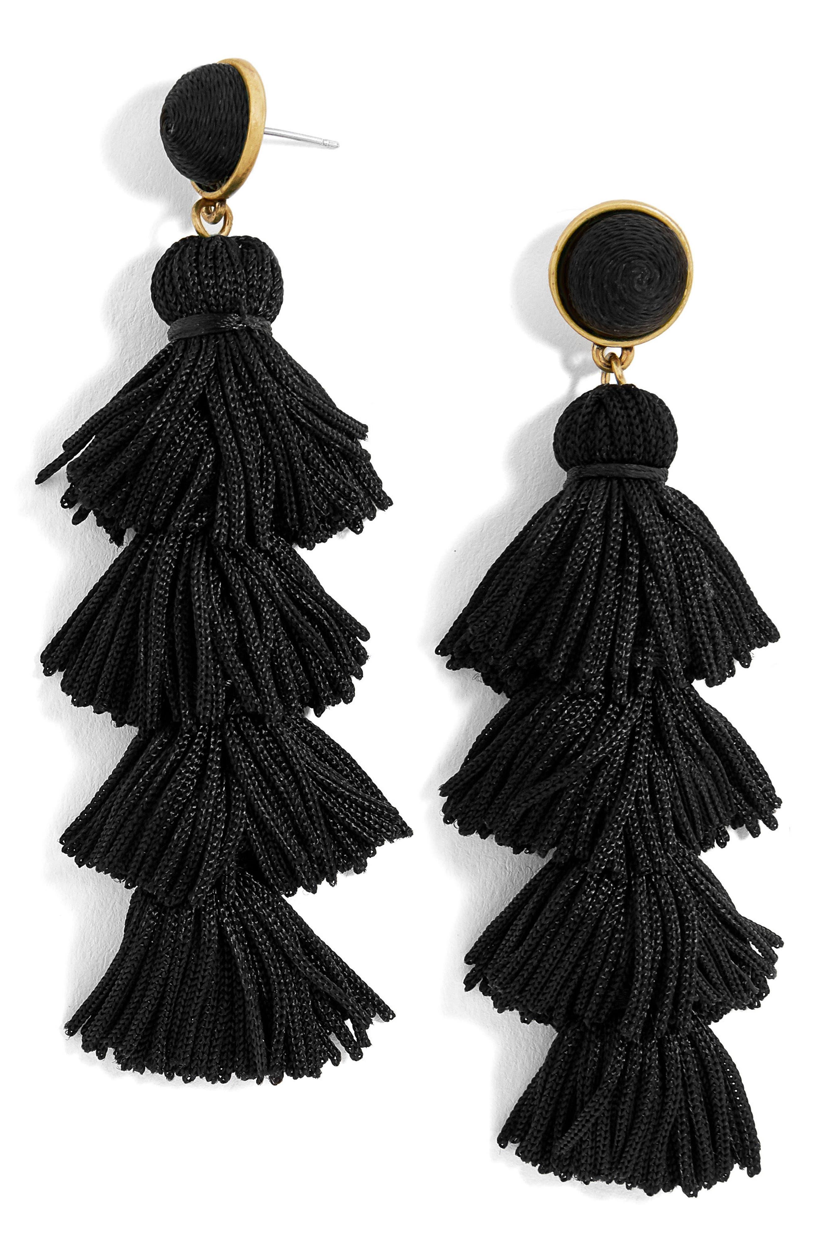 Taylor Tassel Drop Earrings,                         Main,                         color, 001