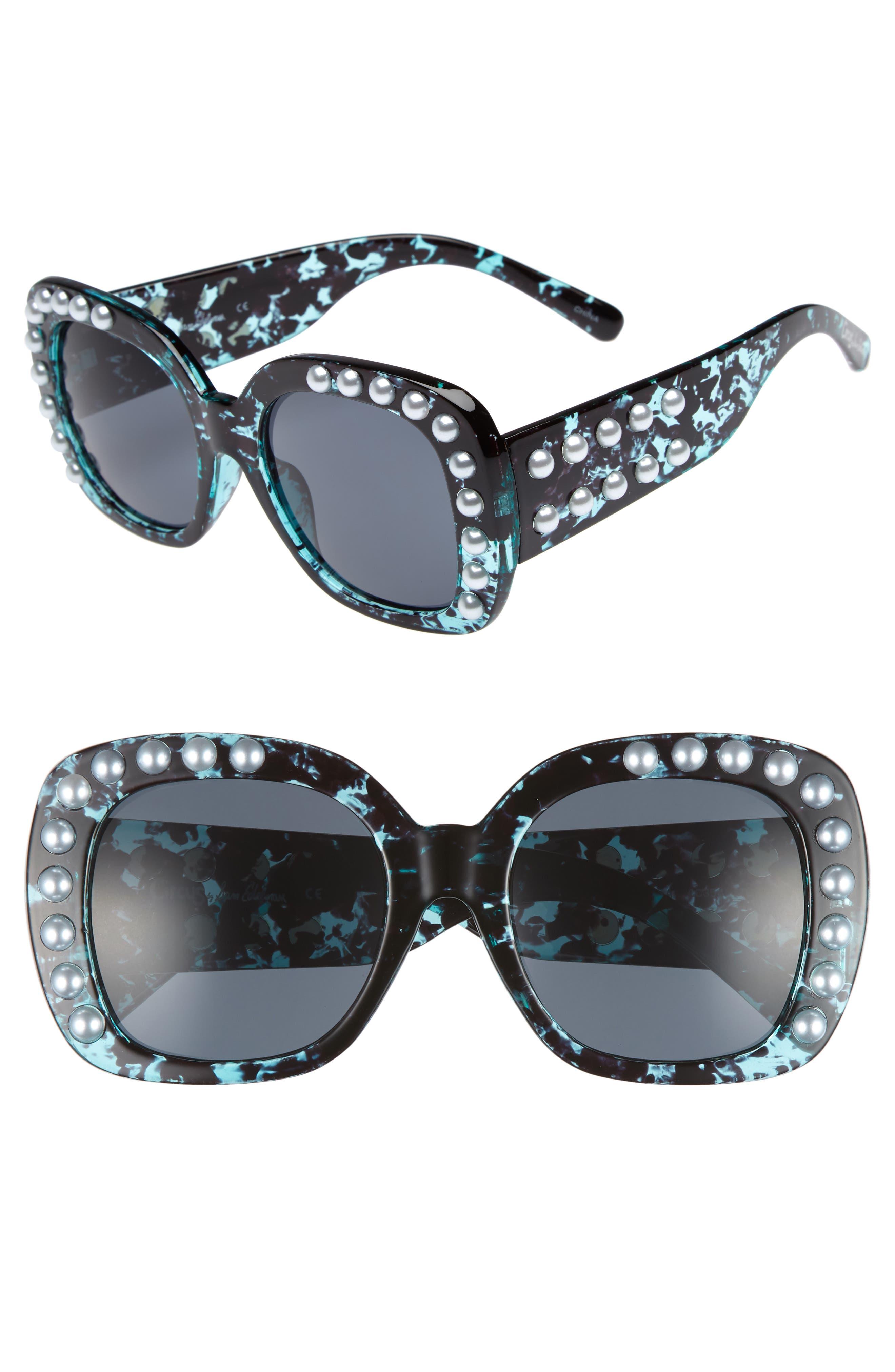 53mm Imitation Pearl Sunglasses,                             Main thumbnail 3, color,