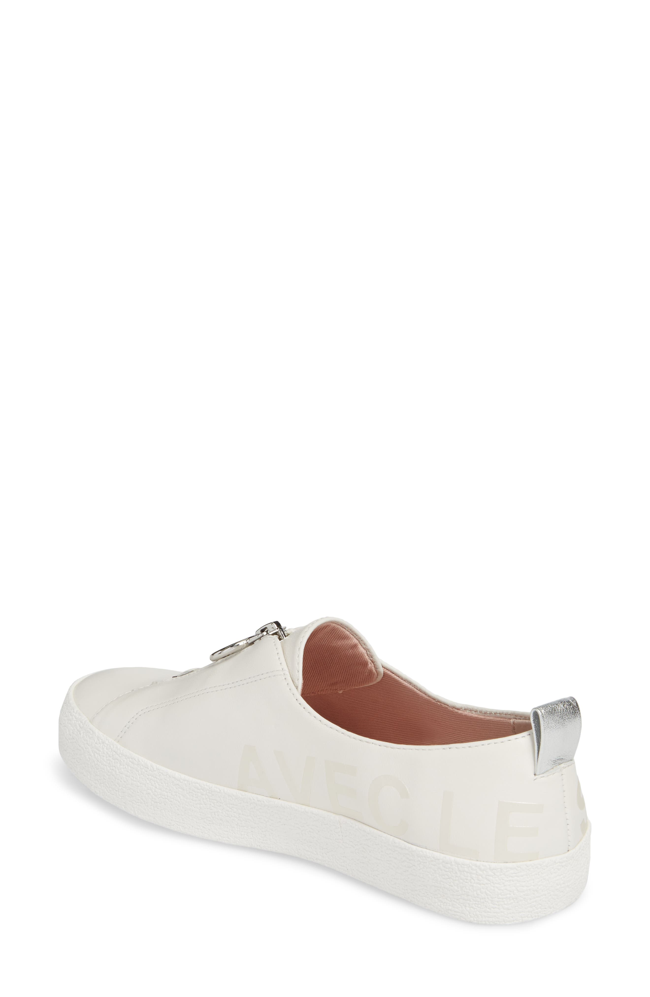 Sasha Zip Sneaker,                             Alternate thumbnail 4, color,