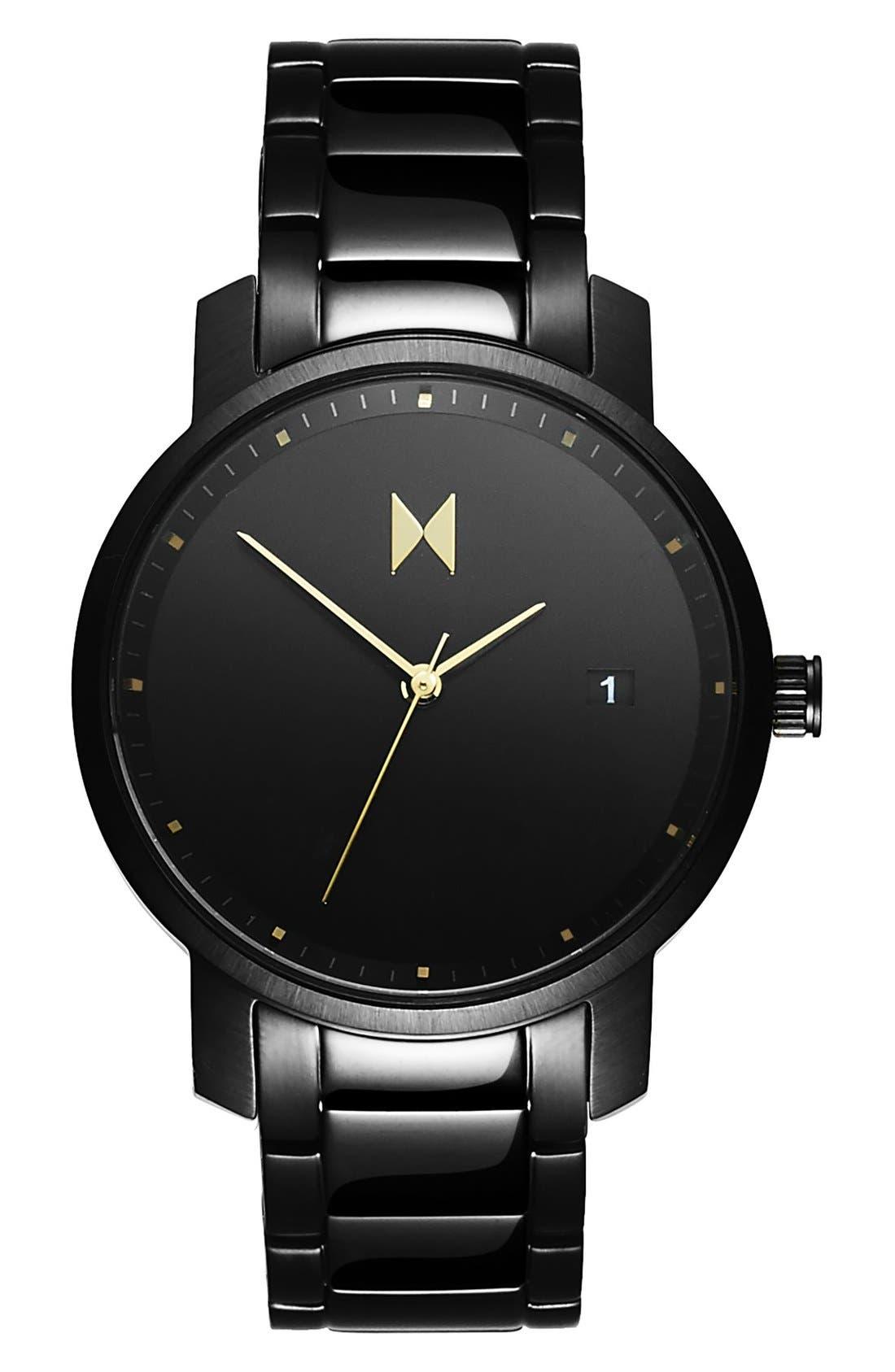 Bracelet Watch, 38mm,                         Main,                         color, BLACK