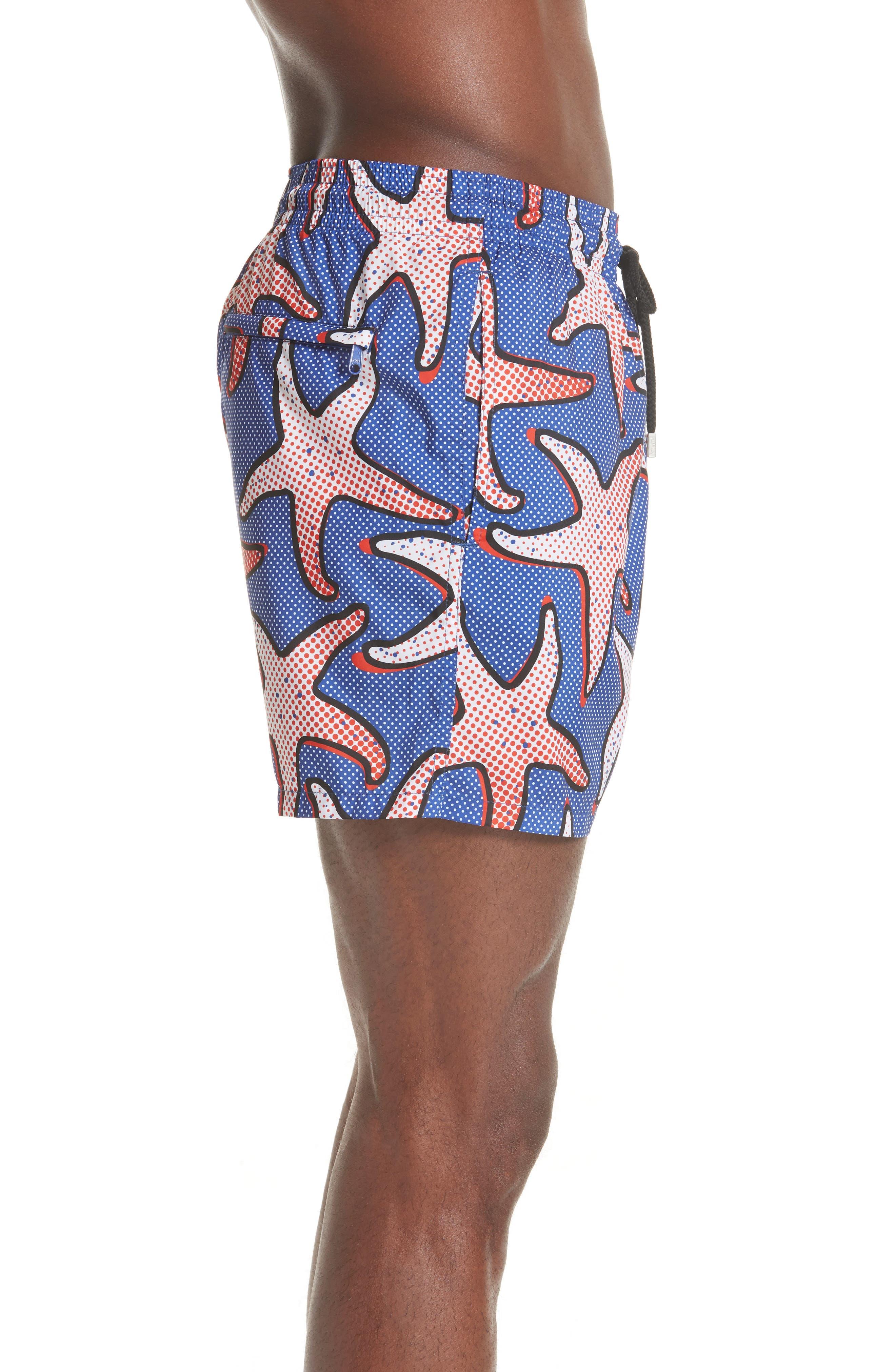 VILEBREQUIN,                             Starfish Art Swim Trunks,                             Alternate thumbnail 3, color,                             NEPTUNE