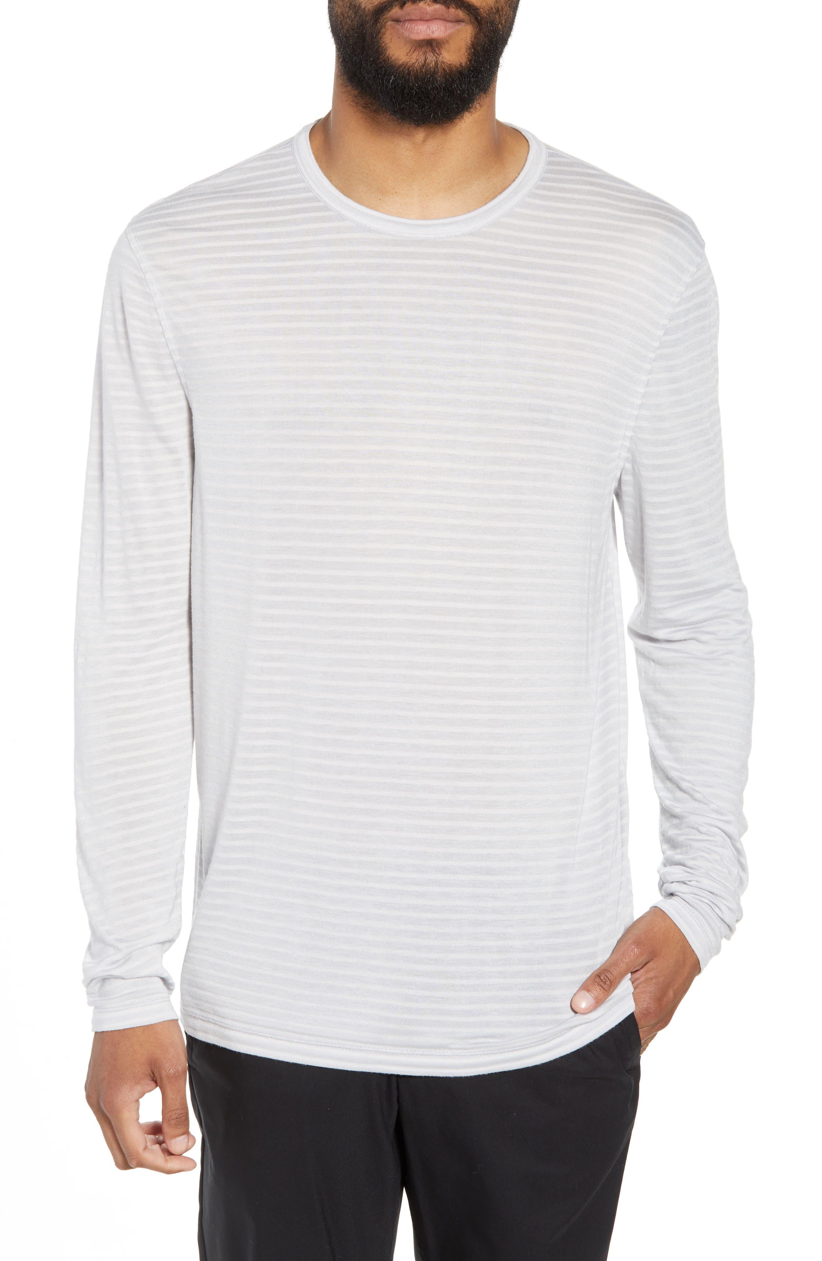 Texture Stripe Long Sleeve T-Shirt,                             Main thumbnail 1, color,                             050