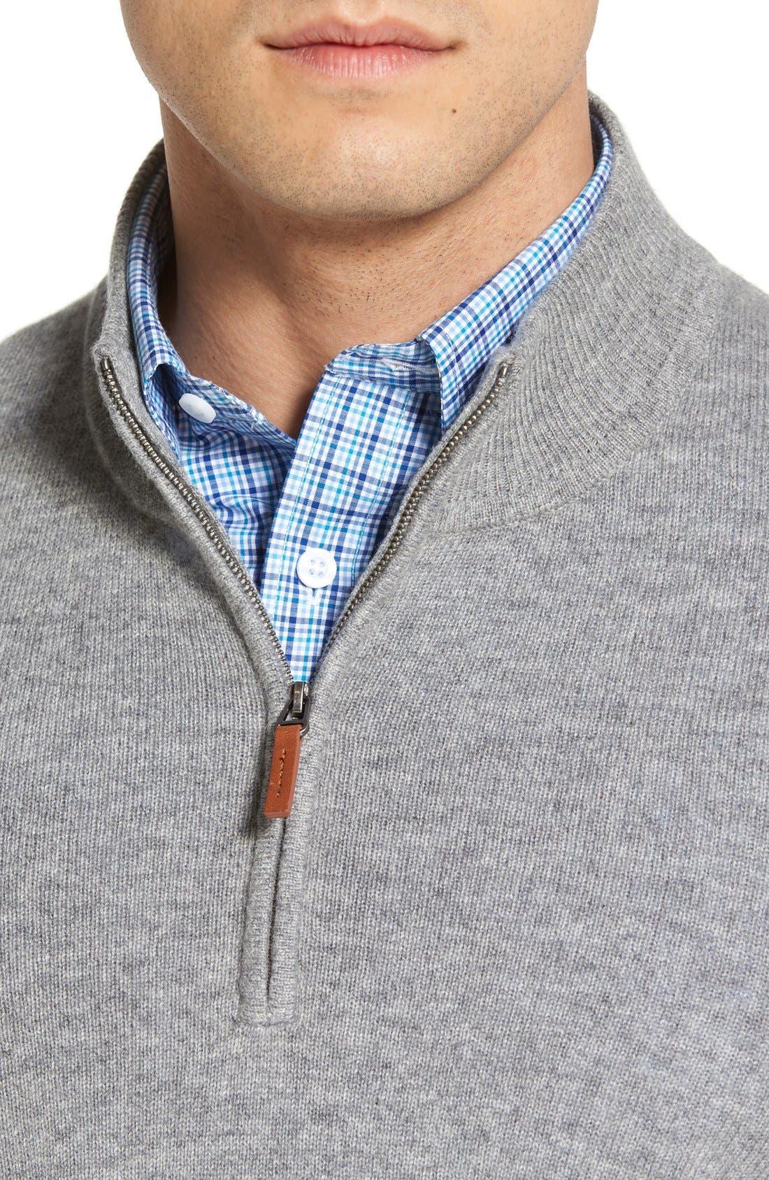 Cashmere Quarter Zip Sweater,                             Alternate thumbnail 47, color,