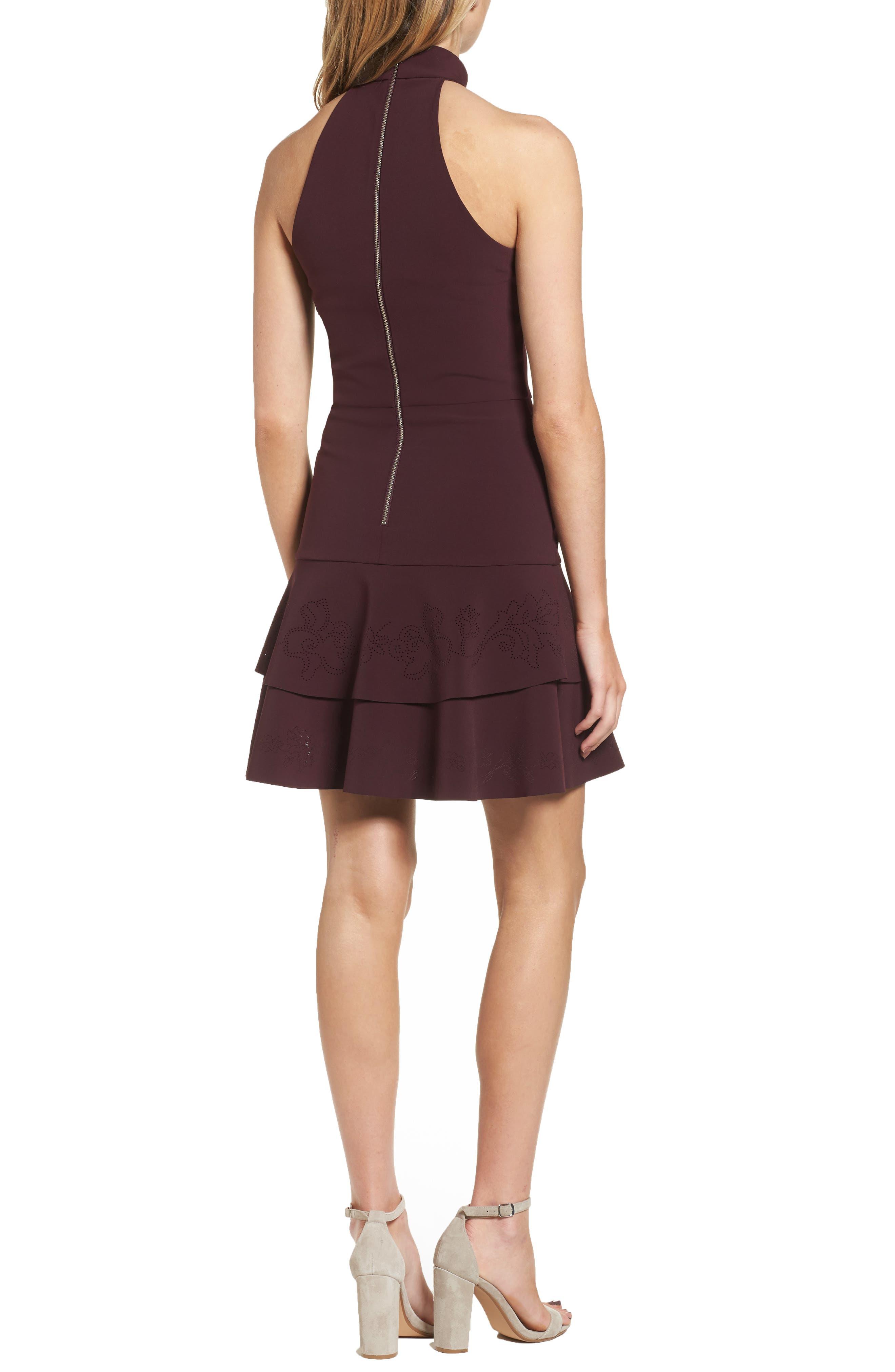 Luana Tiered Halter Dress,                             Alternate thumbnail 2, color,                             931