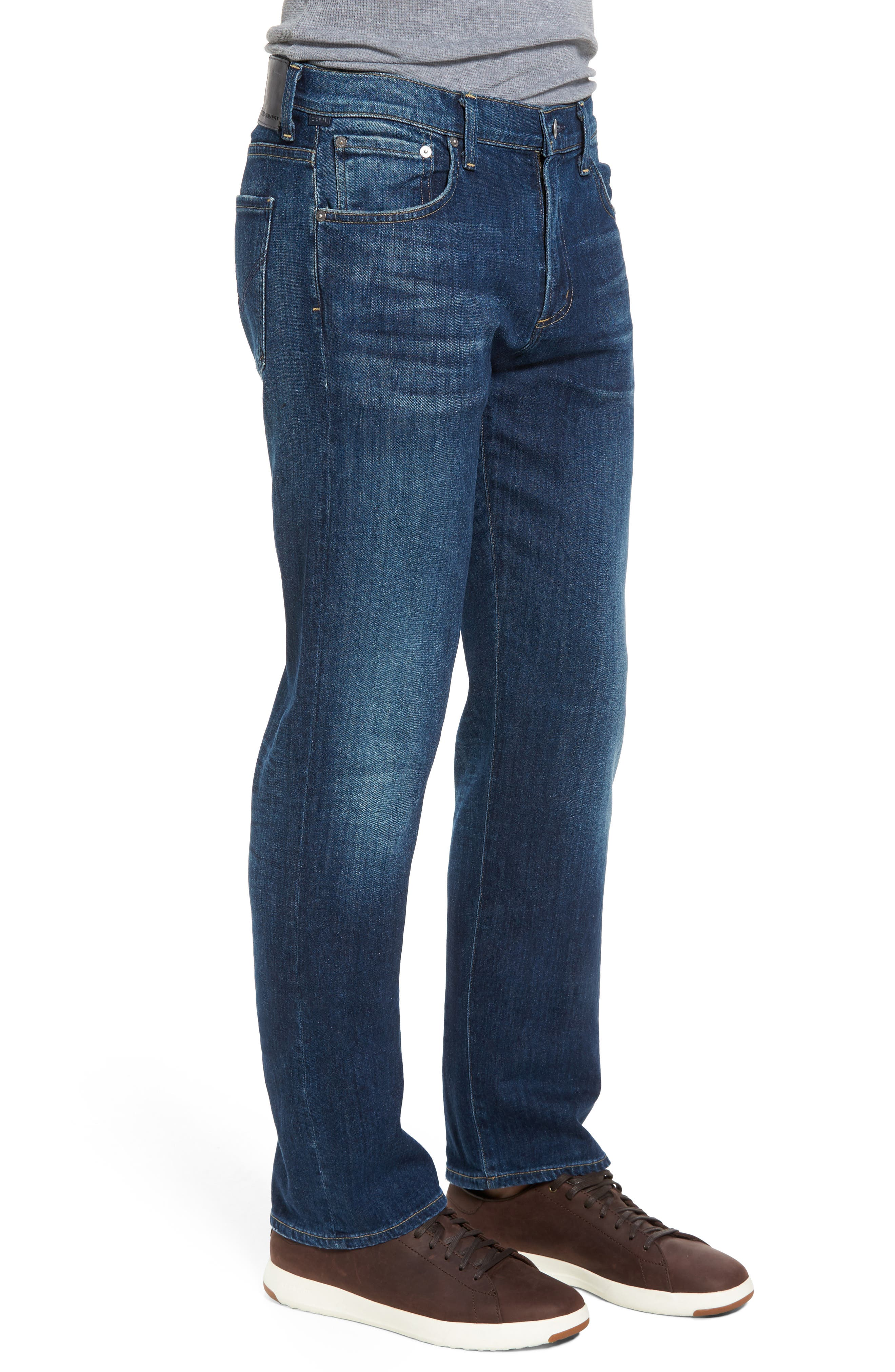 Sid Straight Fit Jeans,                             Alternate thumbnail 3, color,                             410