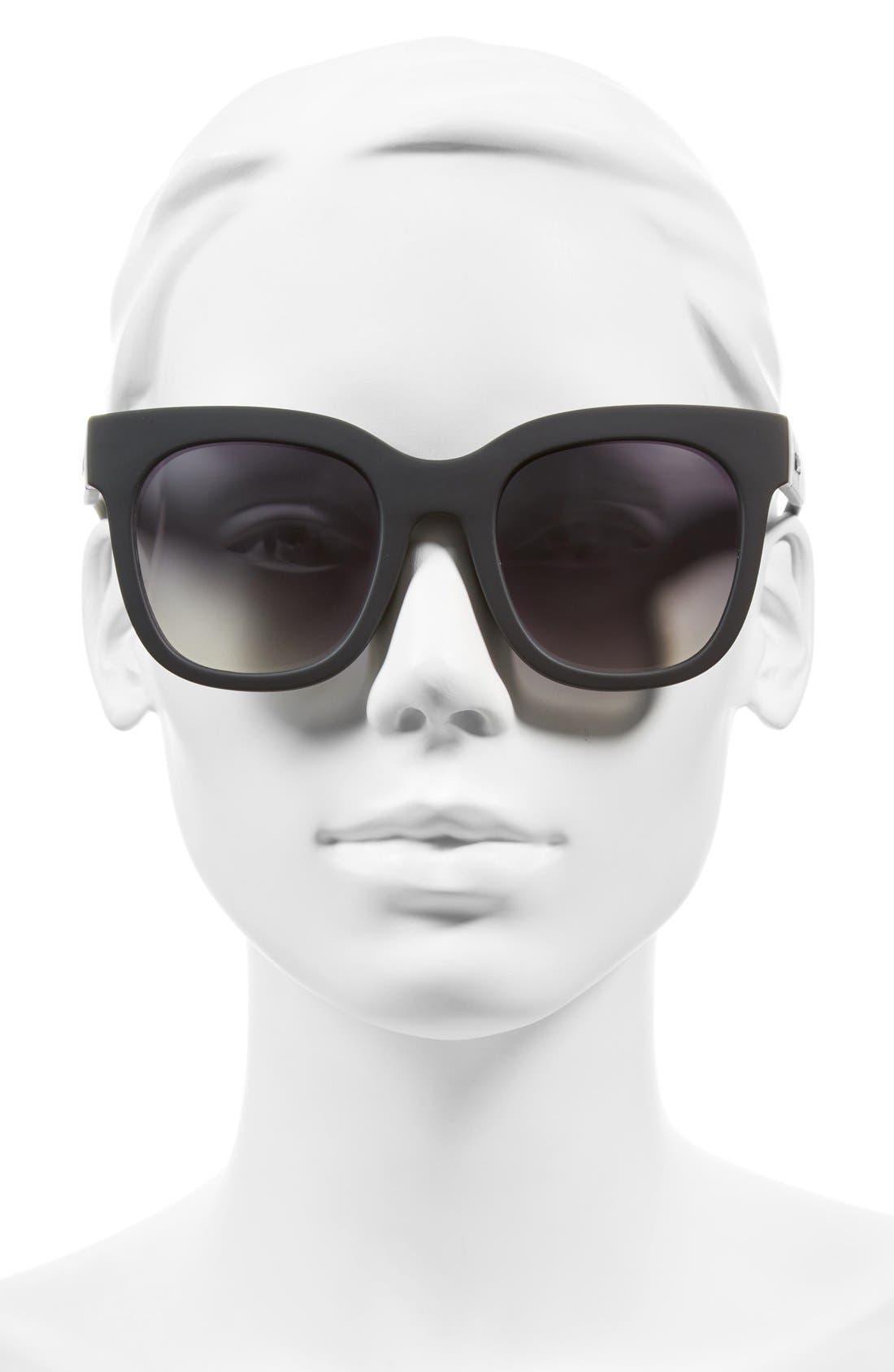 'Sagano' 50mm Square Sunglasses,                             Alternate thumbnail 3, color,