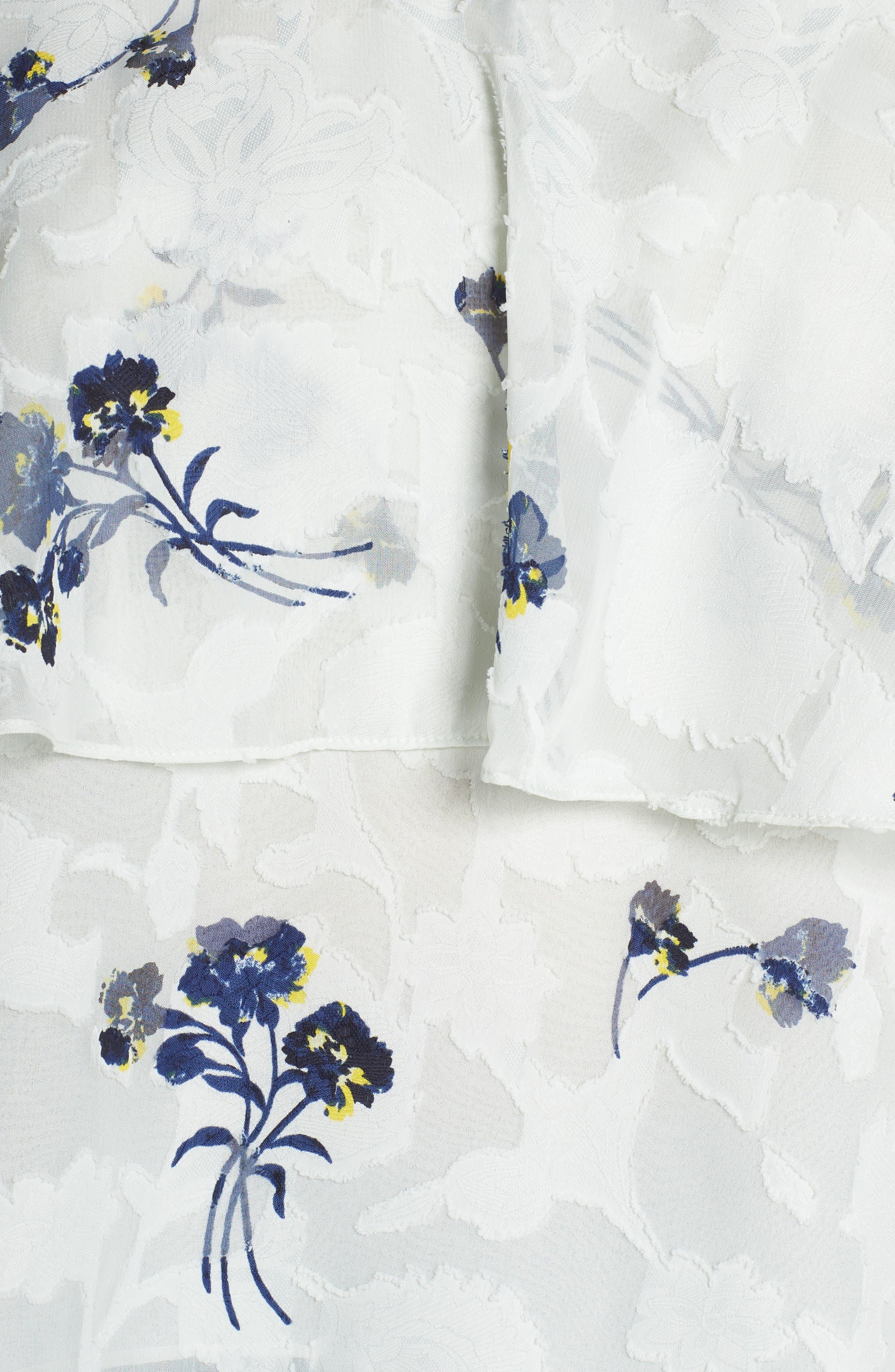 Floral Cold Shoulder Top,                             Alternate thumbnail 6, color,                             360