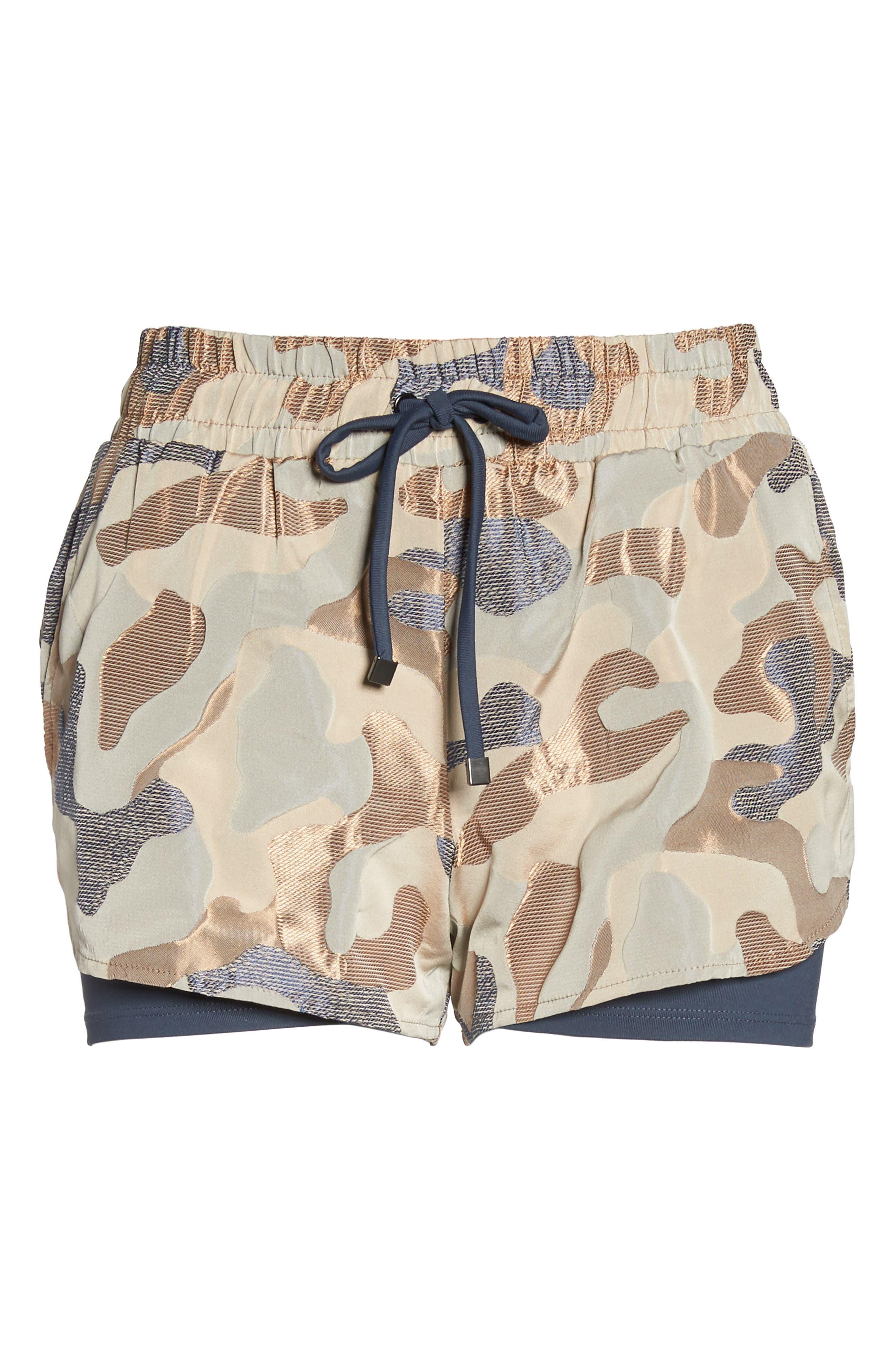 Sand Layered Shorts,                             Alternate thumbnail 6, color,                             ASHEN/ CAMEO