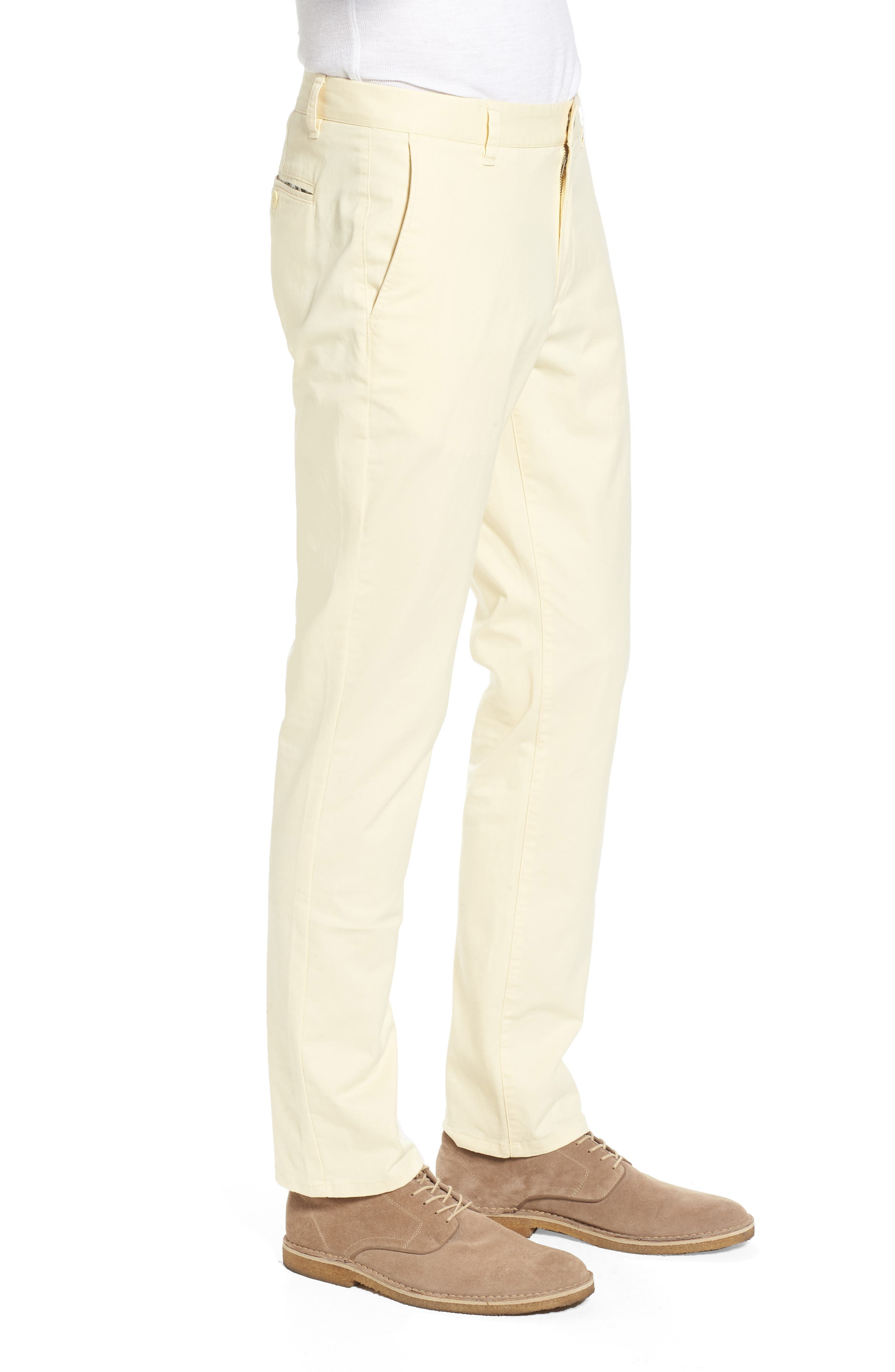 Tailored Fit Washed Stretch Cotton Chinos,                             Alternate thumbnail 90, color,