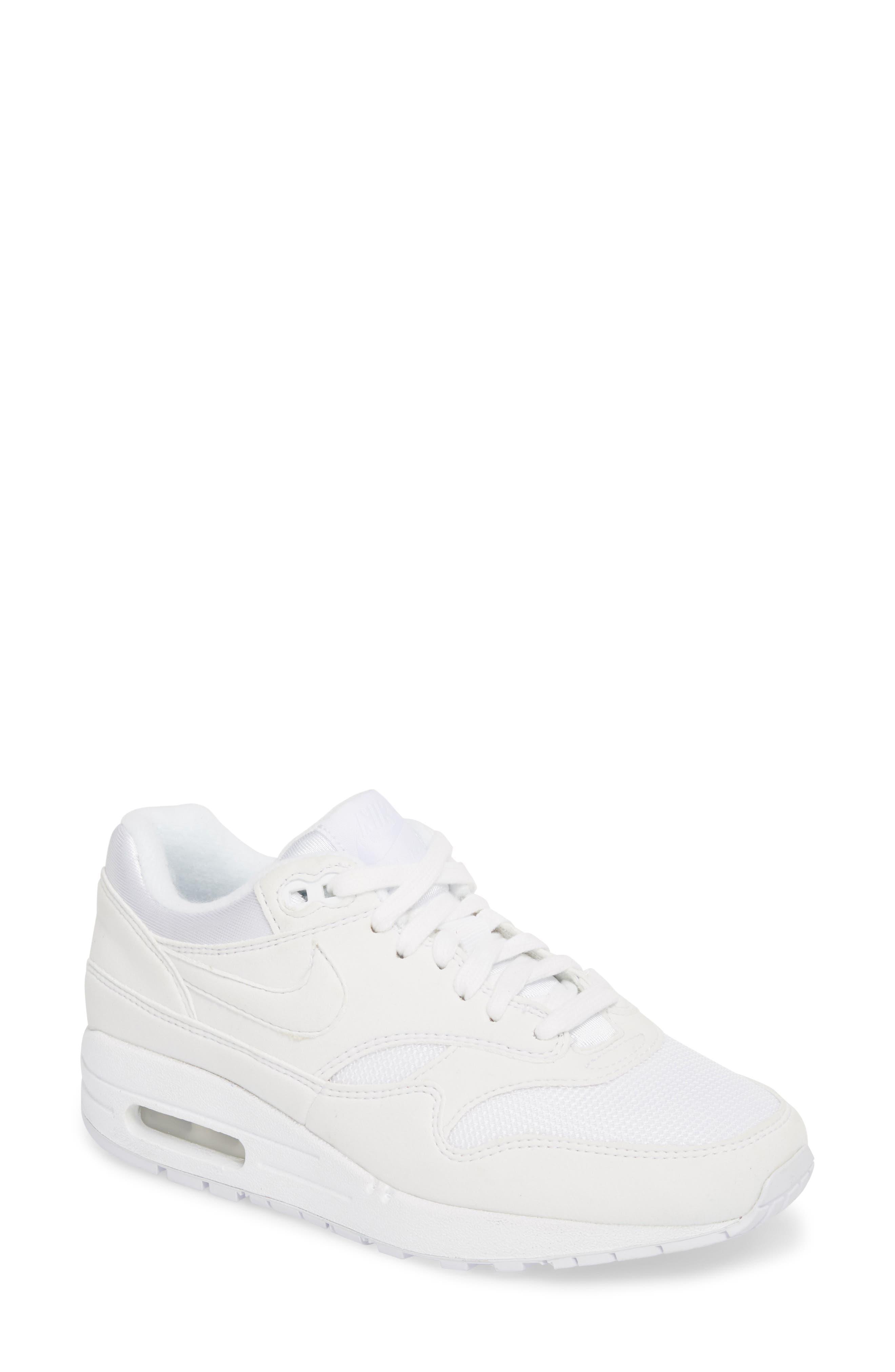 'Air Max 1 ND' Sneaker,                             Main thumbnail 1, color,                             WHITE/ WHITE/ PURE PLATINUM