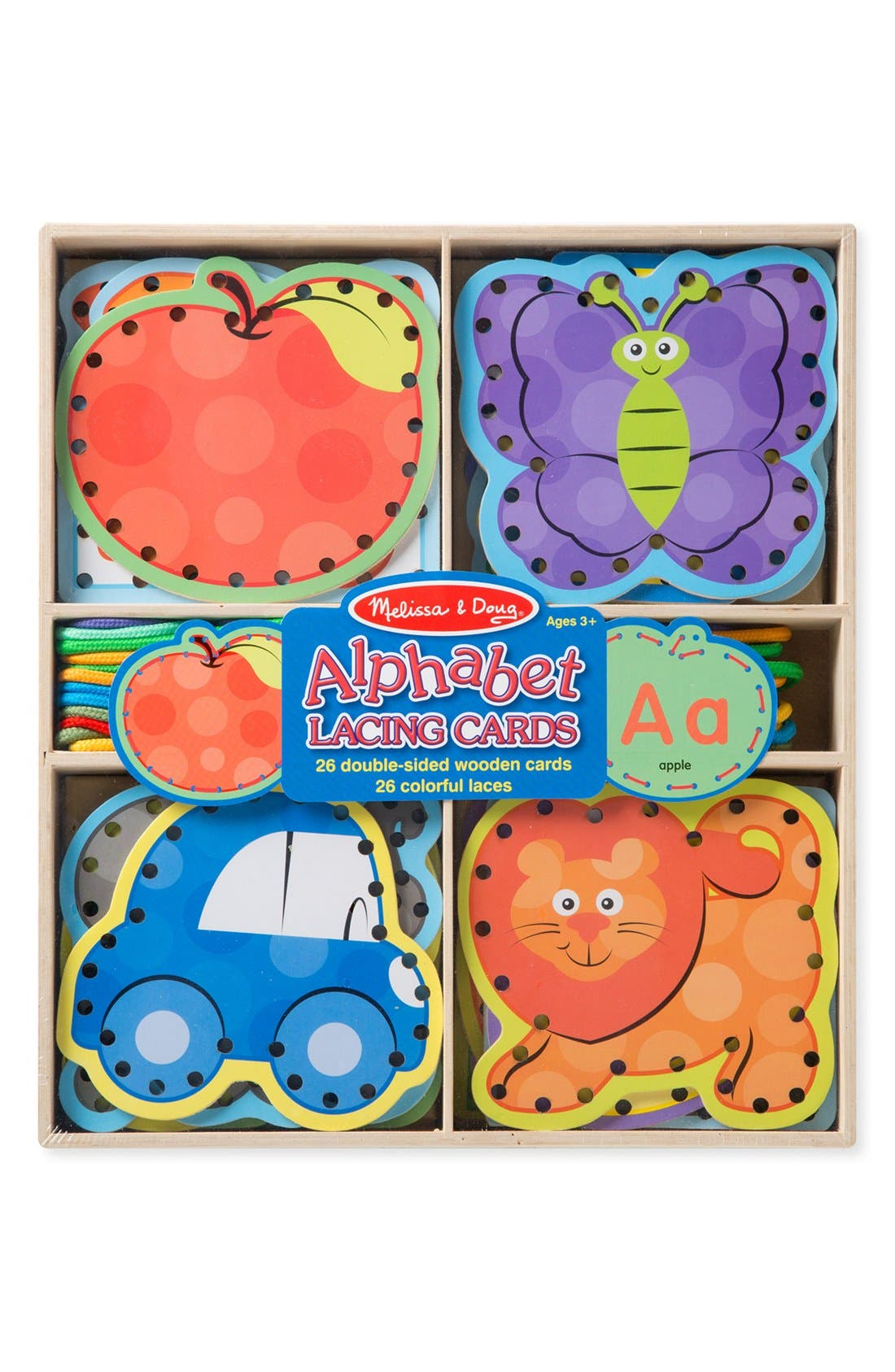 Toddler Melissa  Doug Alphabet Lacing Cards