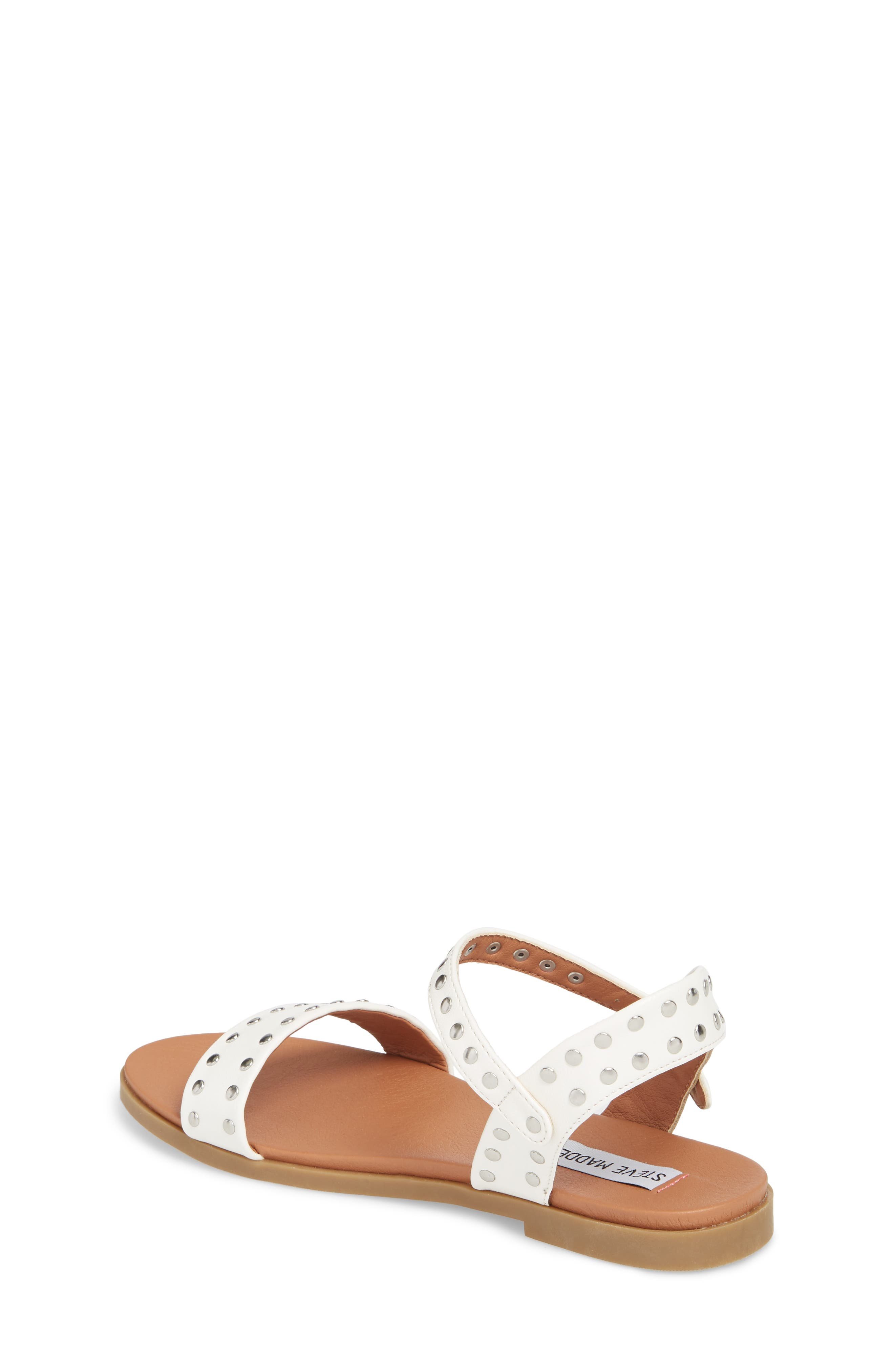 JDONDI Studded Sandal,                             Alternate thumbnail 2, color,                             WHITE