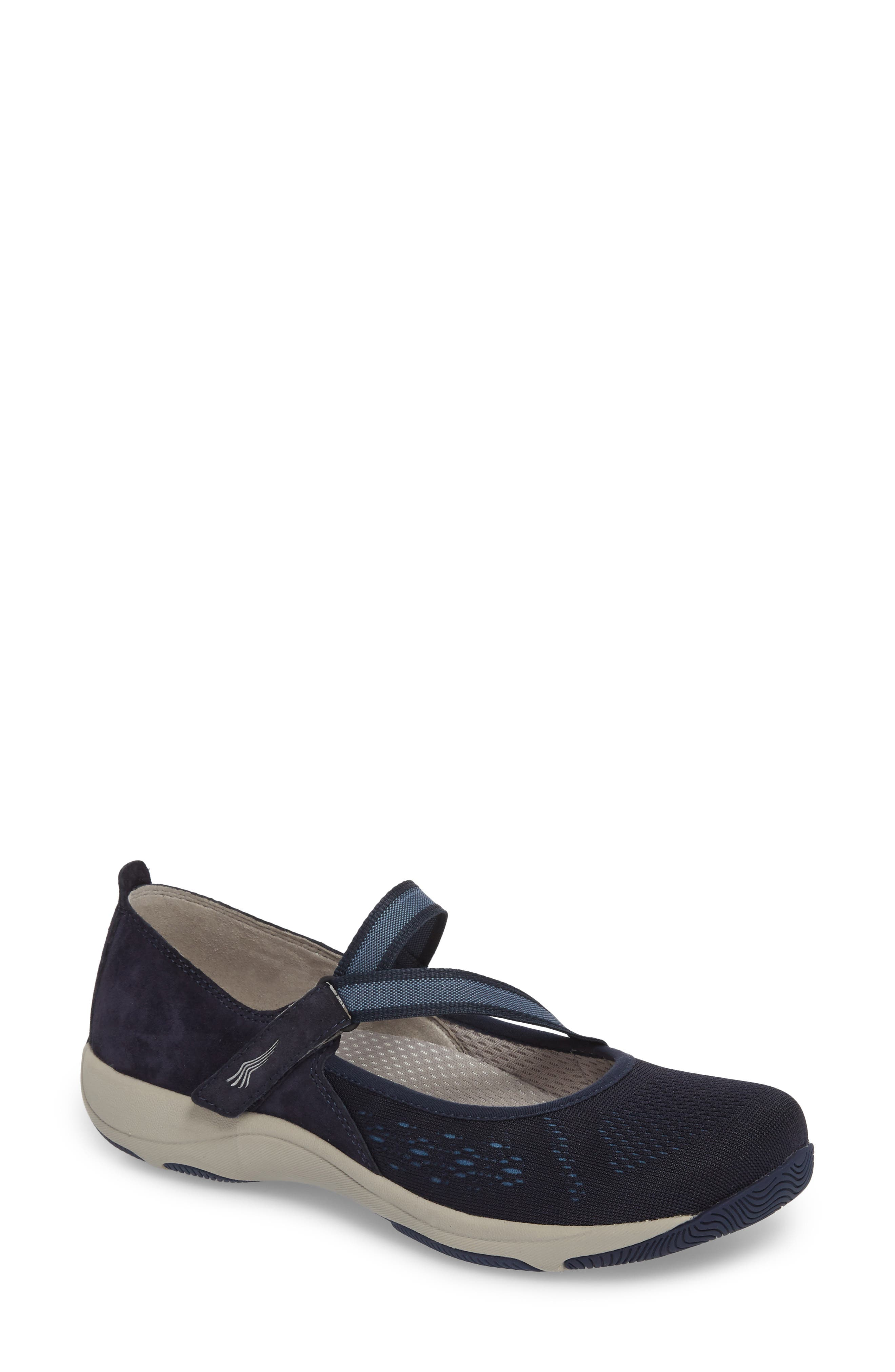Haven Mary Jane Sneaker,                             Main thumbnail 1, color,                             NAVY SUEDE