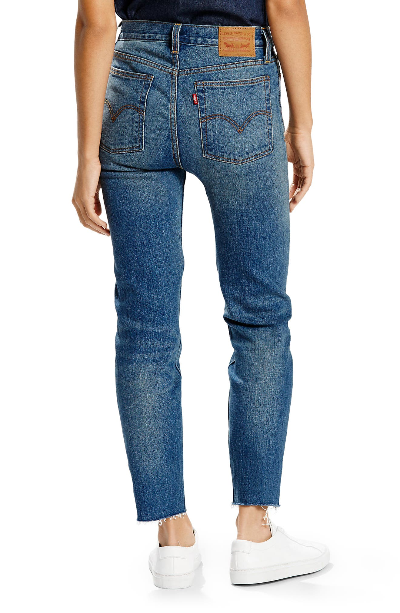 Wedgie High Waist Straight Jeans,                             Alternate thumbnail 2, color,                             400