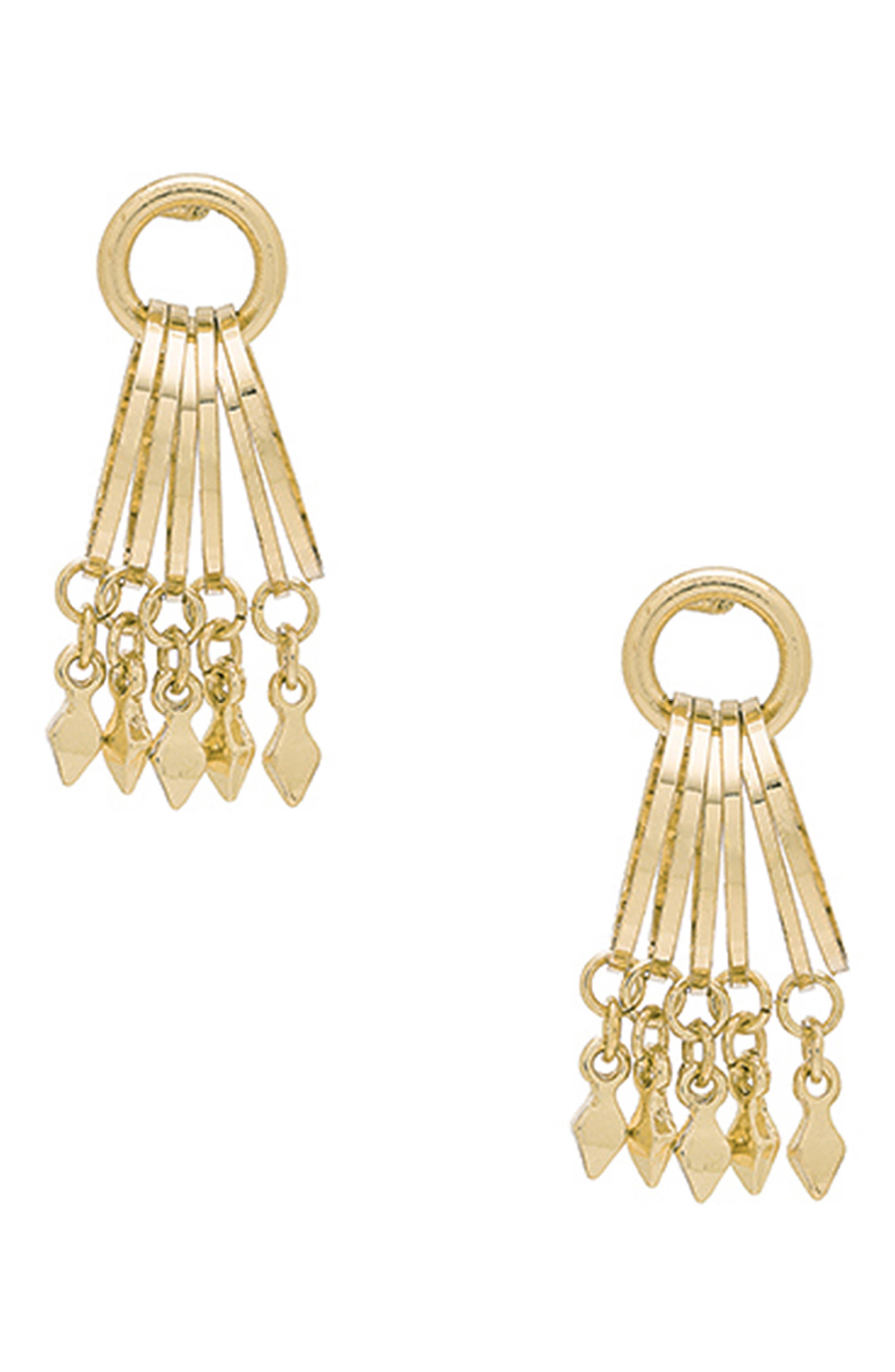 ETTIKA Charm Hoop Stud Earrings in Gold