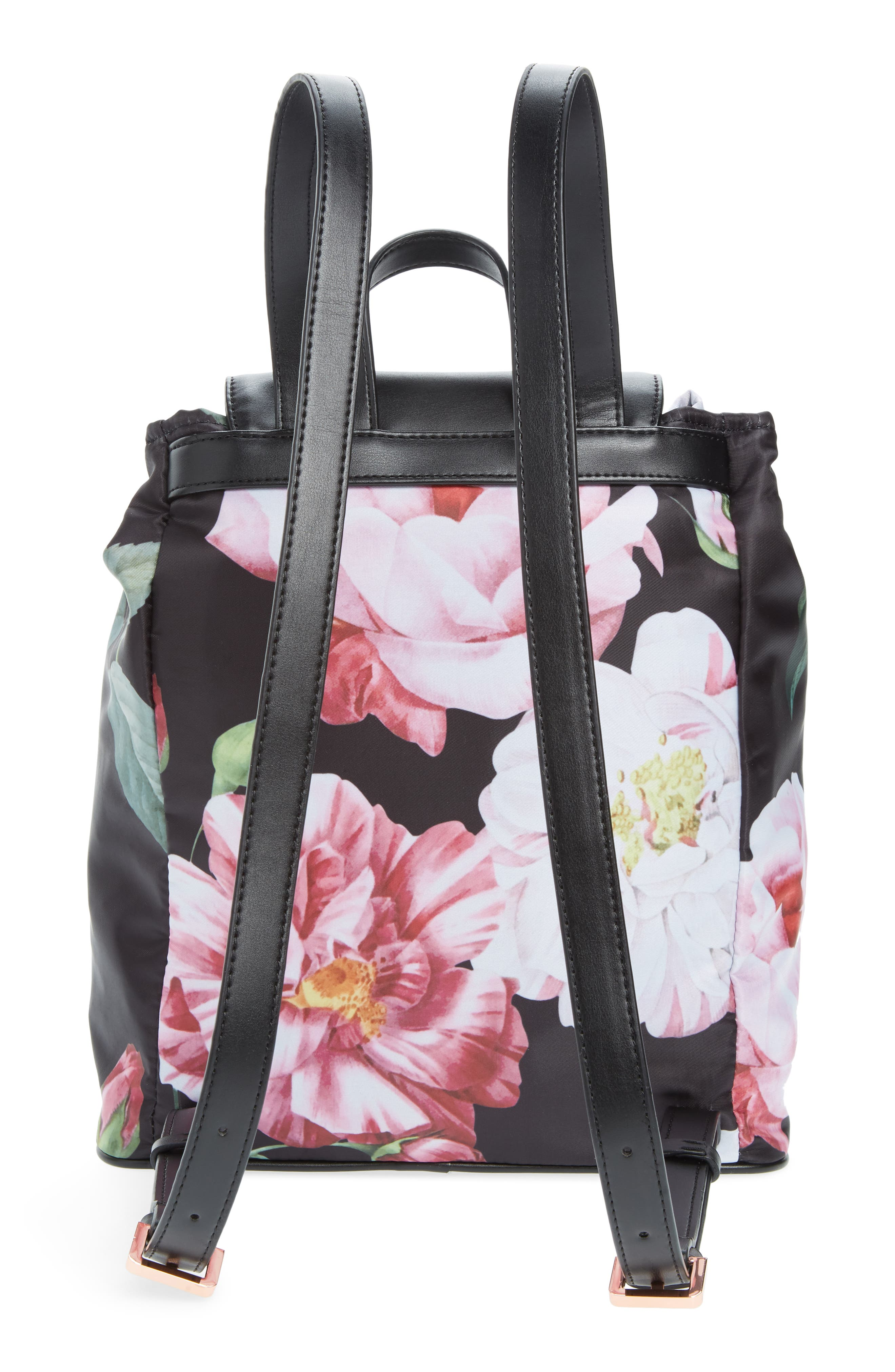 Jullie Iguazu Print Nylon Backpack,                             Alternate thumbnail 3, color,                             BLACK
