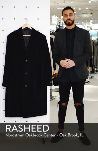 Sheffield Classic Fit Wool & Cashmere Overcoat, sales video thumbnail