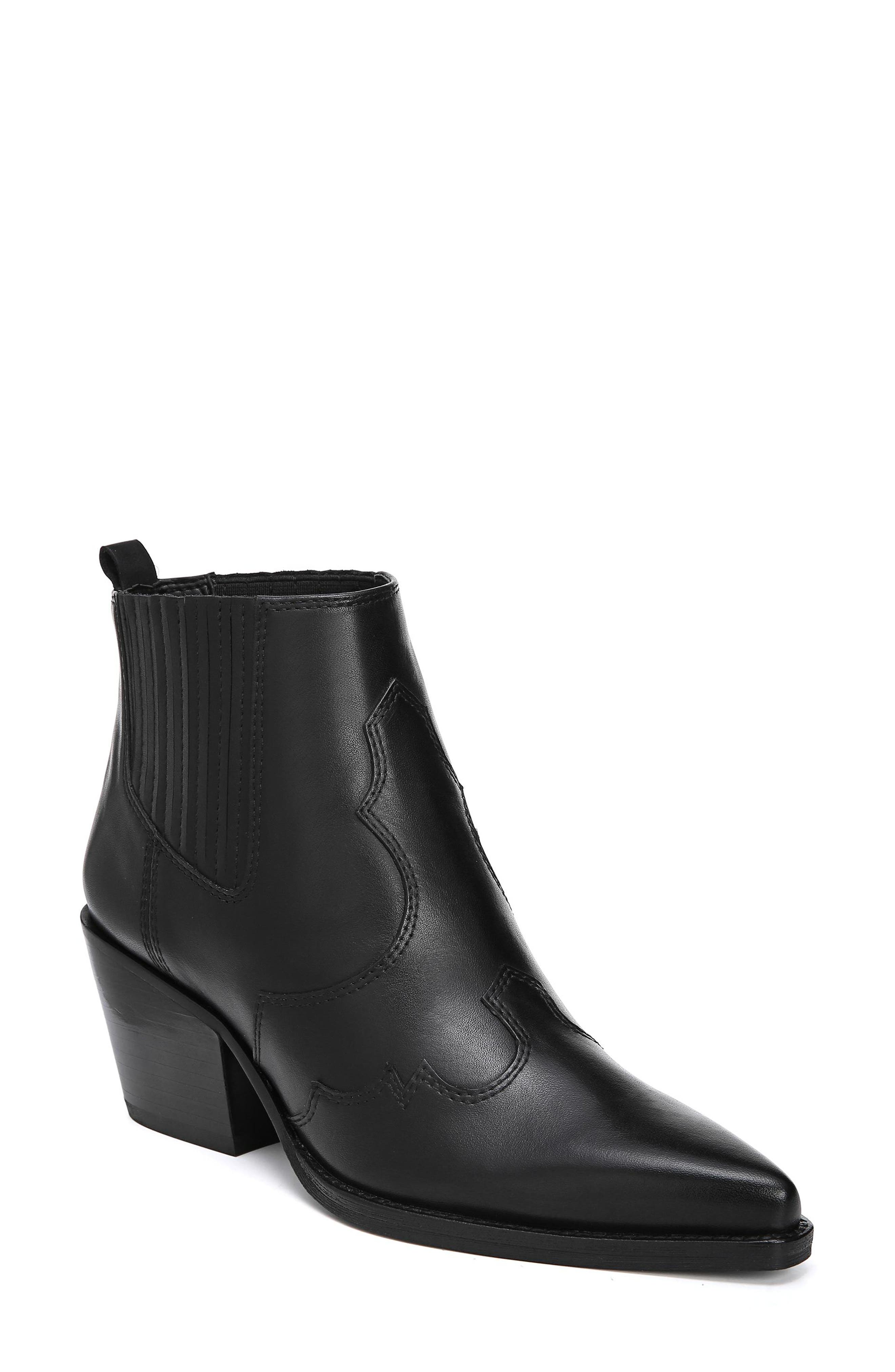 Sam Edelman Winona Genuine Calf Hair Bootie, Black