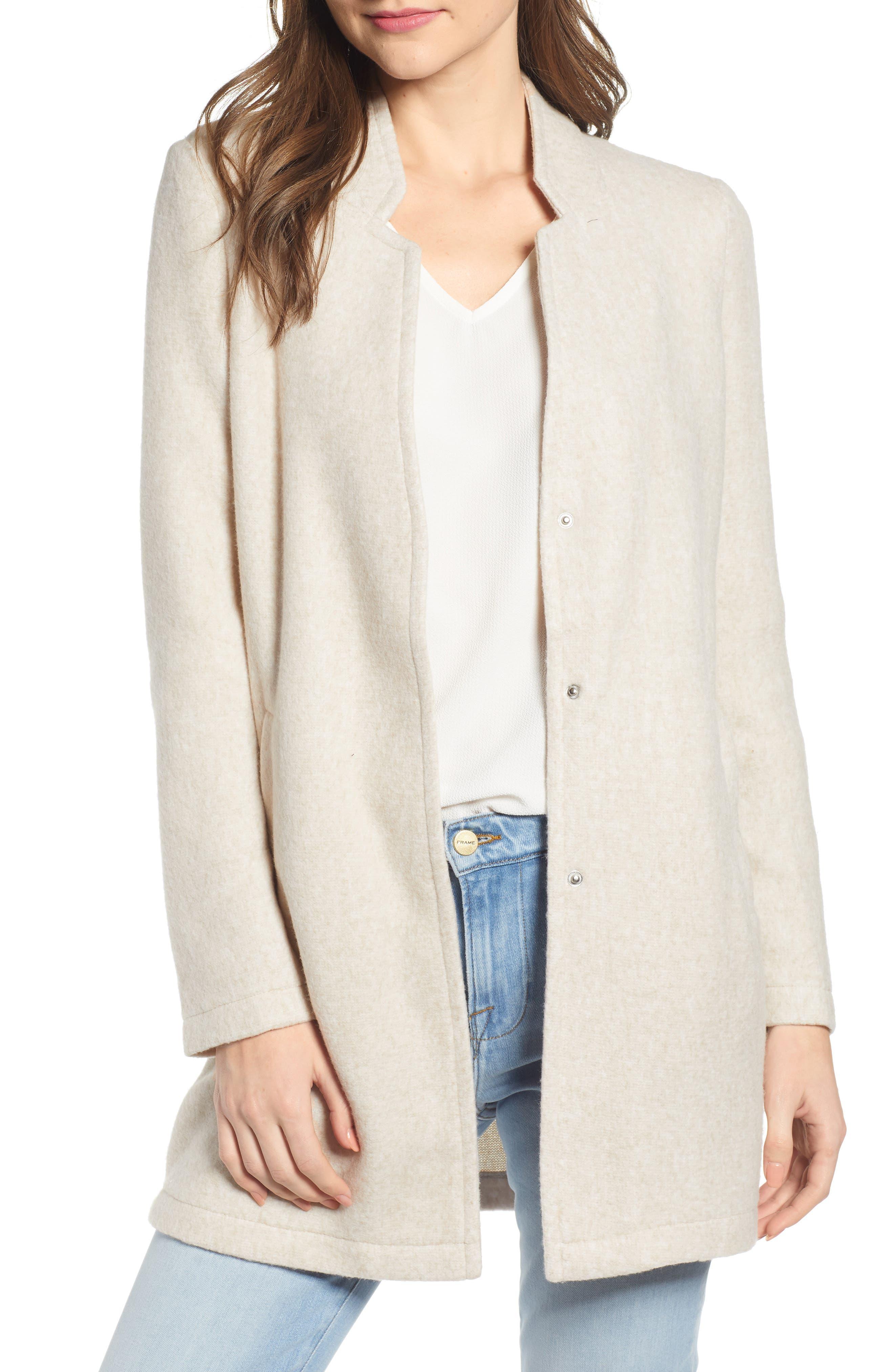 Vero Moda Katrine Brushed Fleece Jacket, Beige