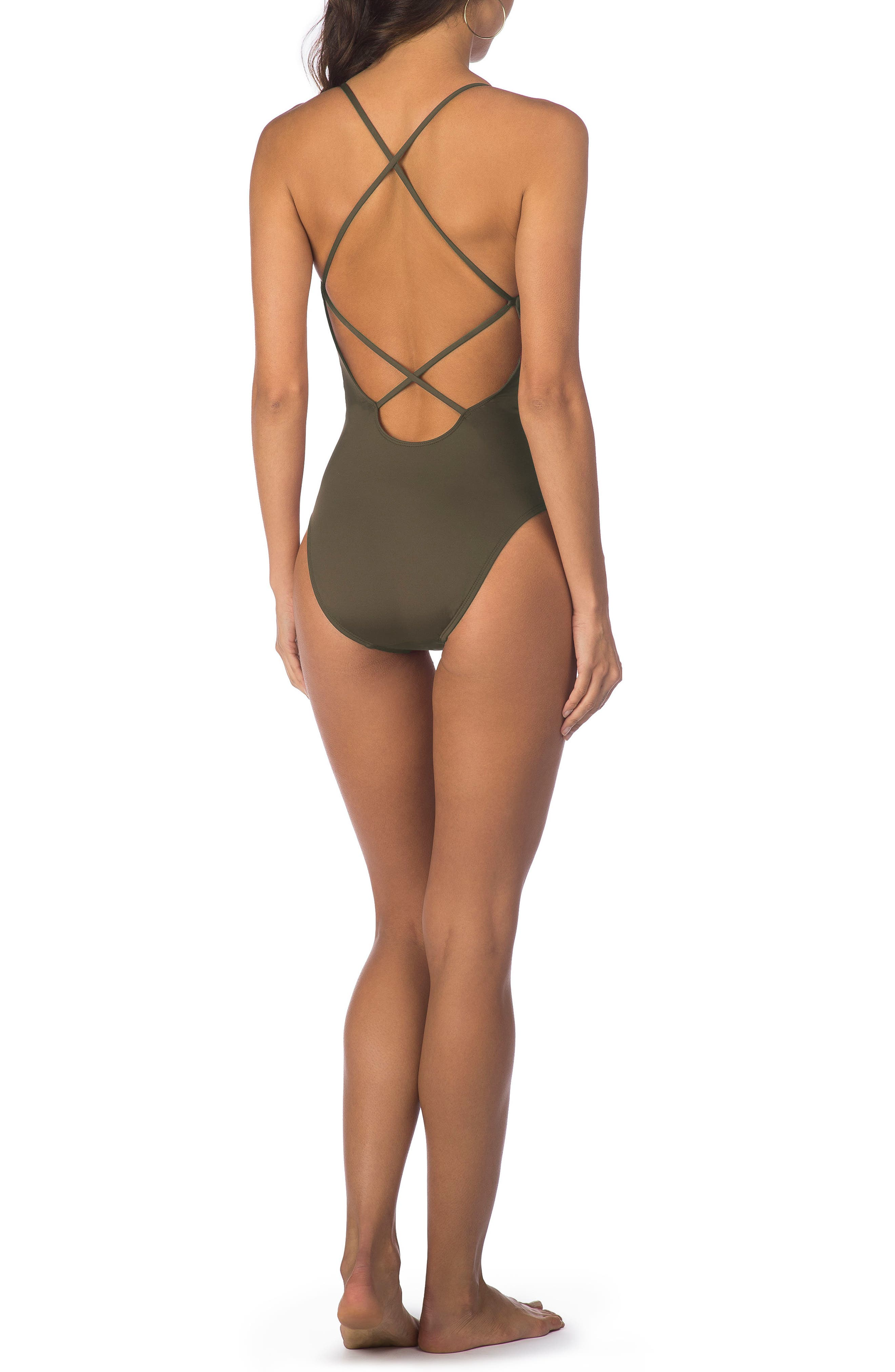 Kenneth Cole Weave Your Own Way One-Piece Swimsuit,                             Alternate thumbnail 9, color,