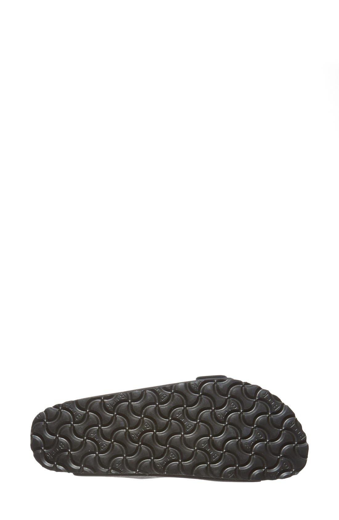 'Arizona' Soft Footbed Sandal,                             Alternate thumbnail 6, color,                             BLACK/ BLACK