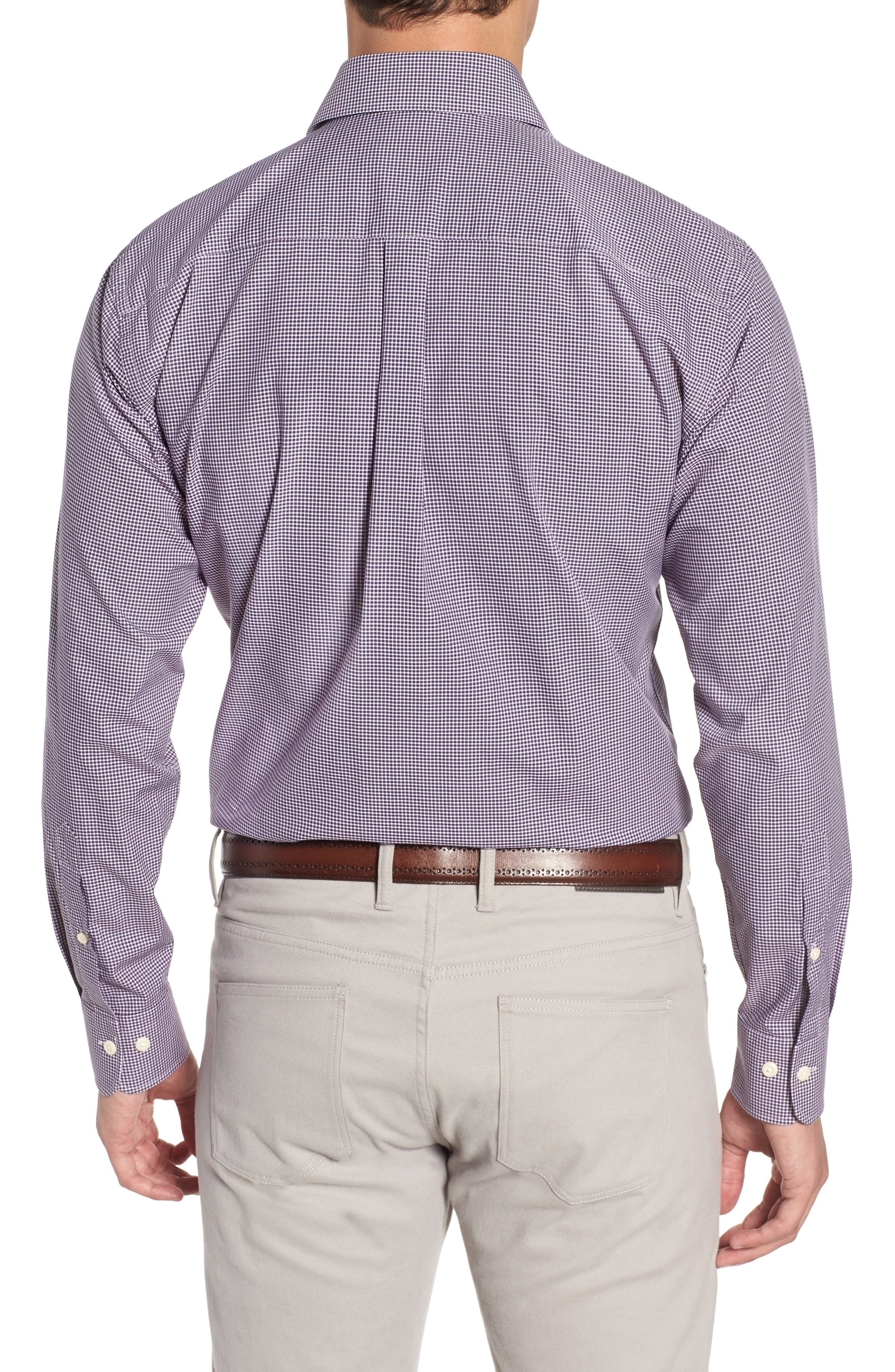 Crown Finish Wedgwood Microcheck Sport Shirt,                             Alternate thumbnail 2, color,                             410
