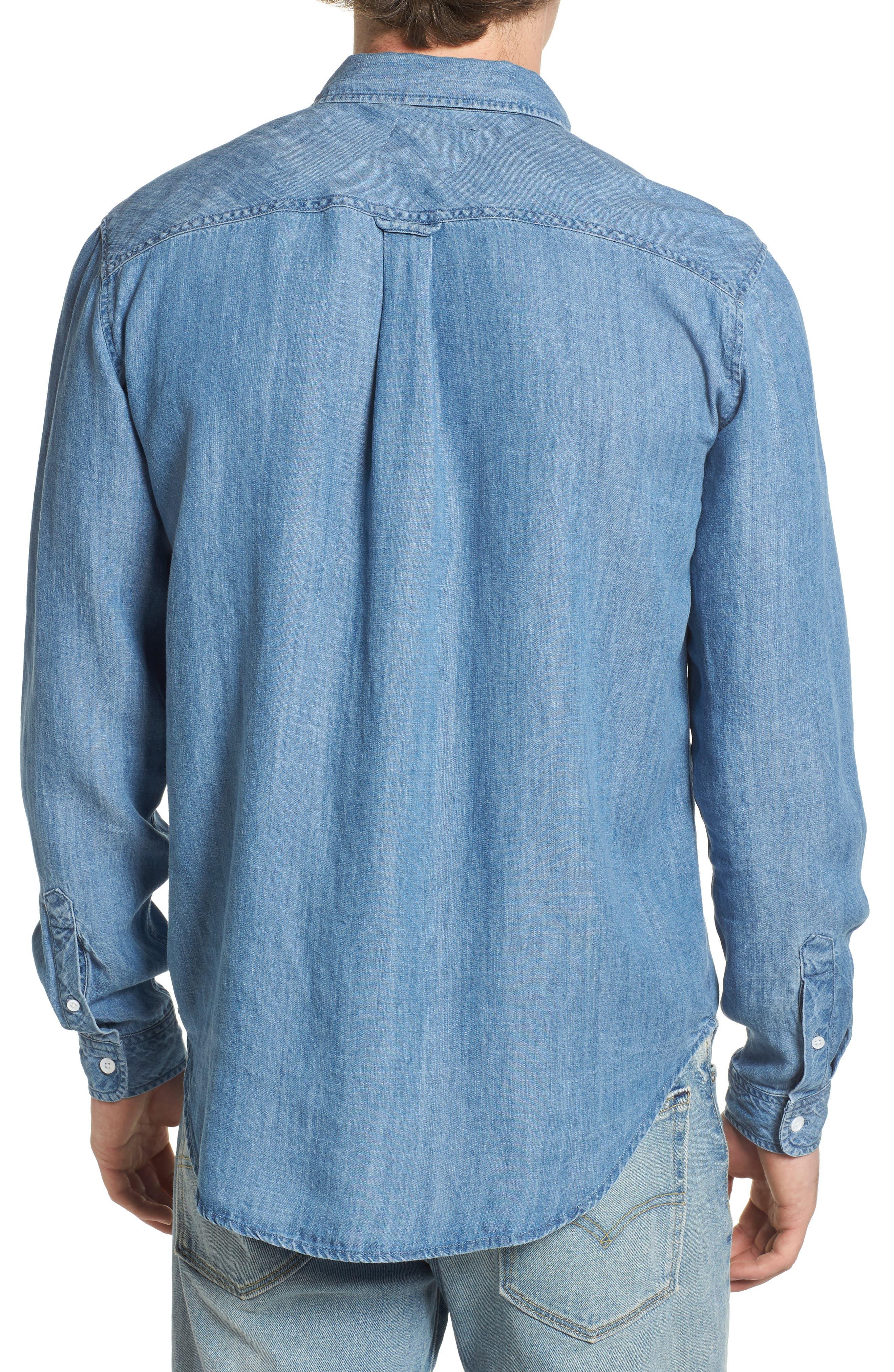 Colton Denim Shirt,                             Alternate thumbnail 2, color,                             MEDIUM VINTAGE WASH