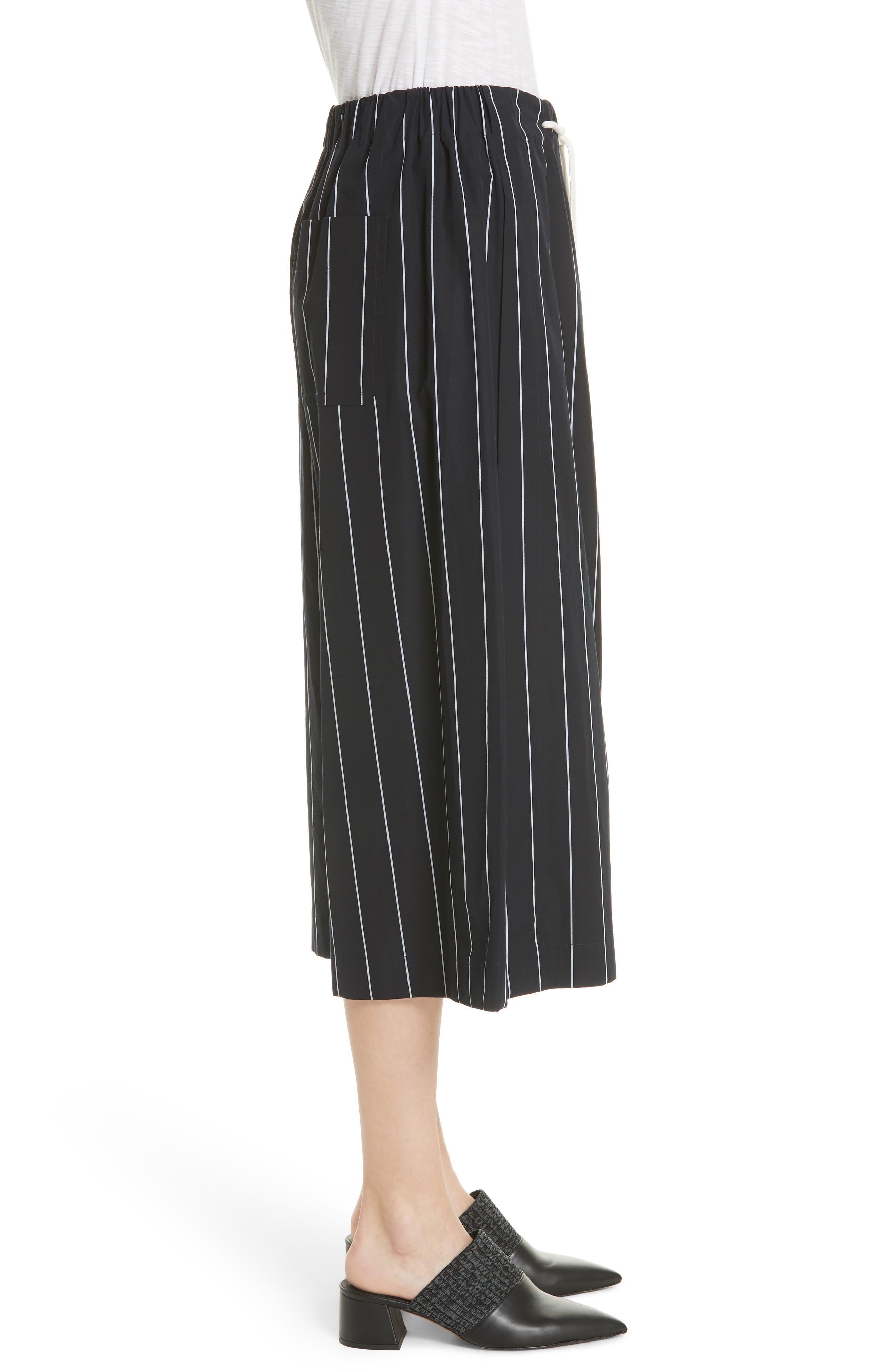 Stripe Cotton Culottes,                             Alternate thumbnail 3, color,